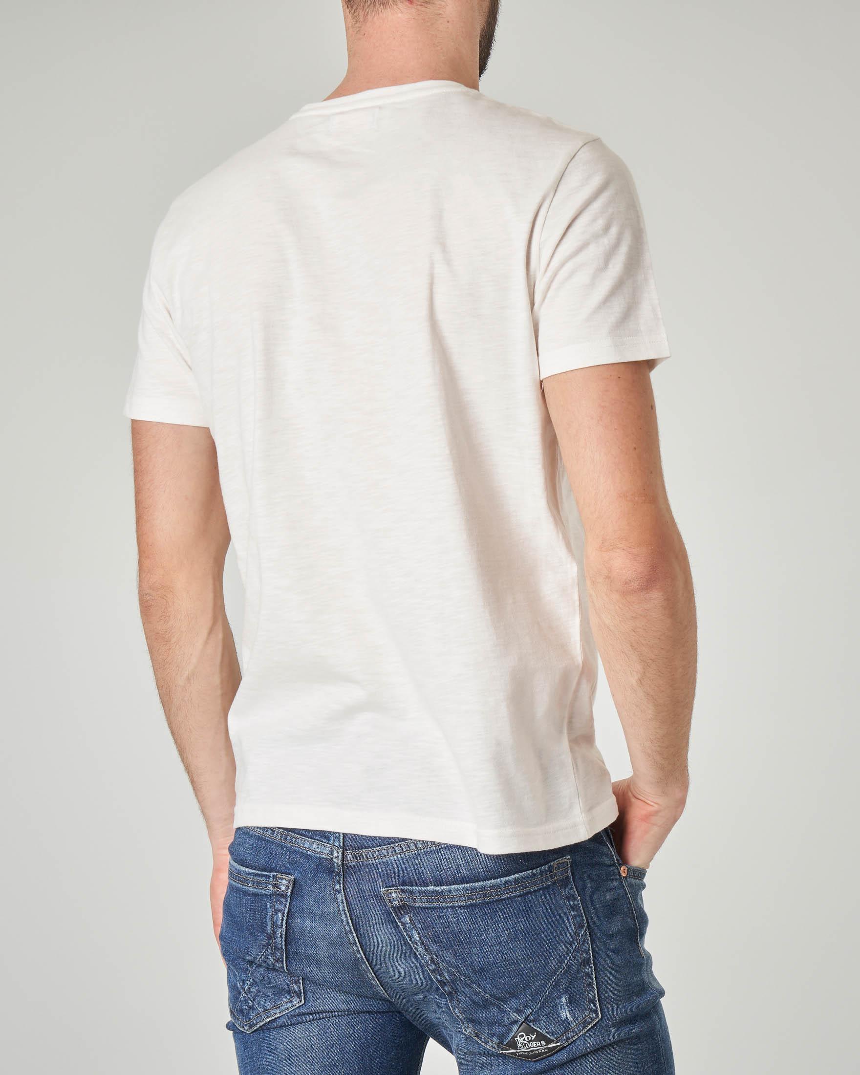 T-shirt bianca con stampa balena