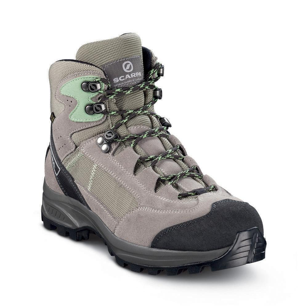 KAILASH LITE GTX WMN   -   On trails with full backpacks, waterproof   -   Quartz-Taupe-Pastel Green