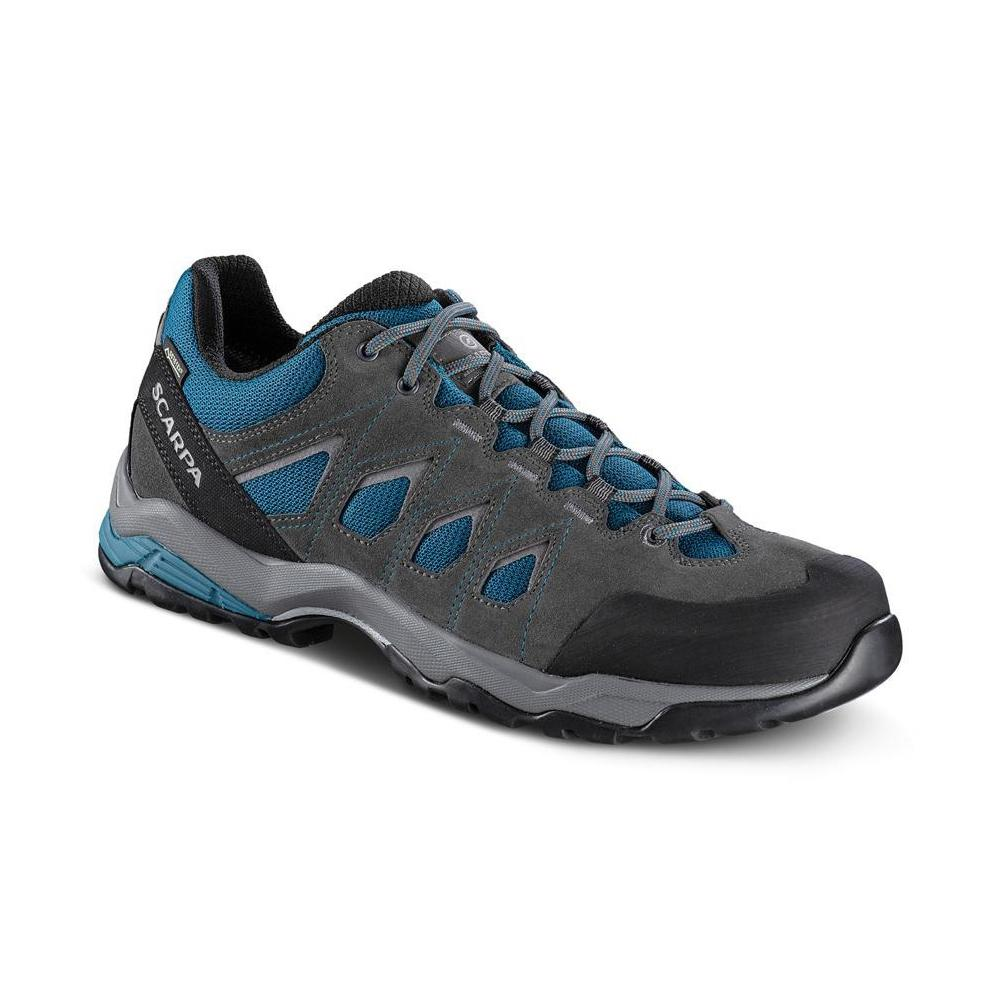 MORAINE GTX   -   Protective for hiking on mixed terrains, waterproof   -   Ocean Blue-Storm Gray- Gray