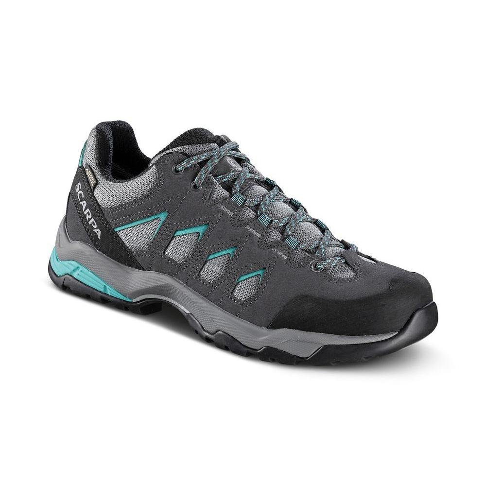 MORAINE GTX WMN   -   Hiking lunghe camminate, uso cittadino, Impermeabile   -   Midgray-Storm Gray-Lagoon Green