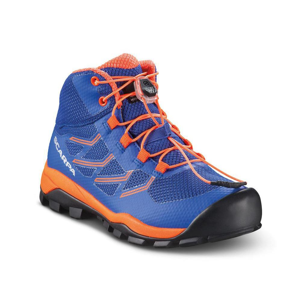NEUTRON MID KID   -   To walk in forests and everyday walking   -   Deep Blue-Orange Fluo