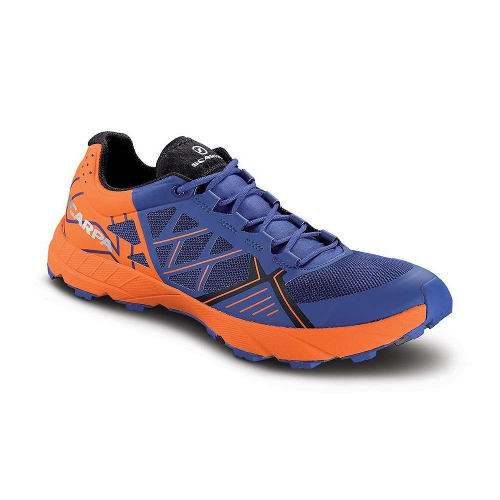 SPIN   -   Trail Running, leggera e grip notevole   -   Orient Blue - Red Orange