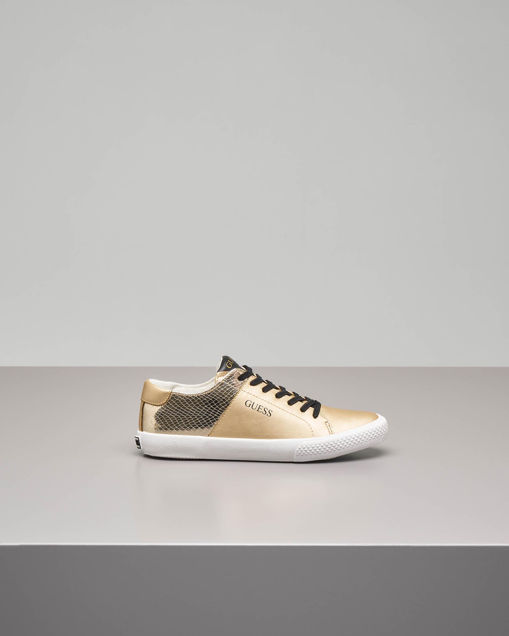 Sneaker bassa color oro