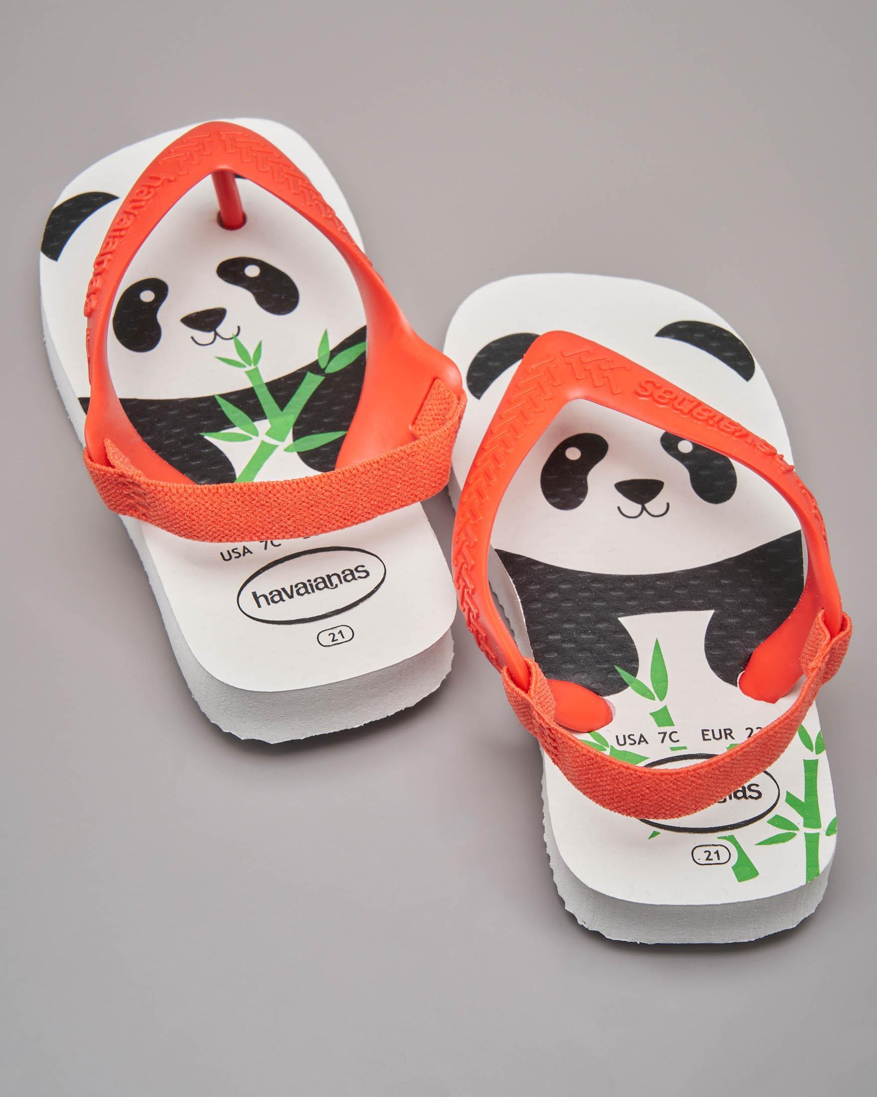 Havaianas bianca con stampa panda