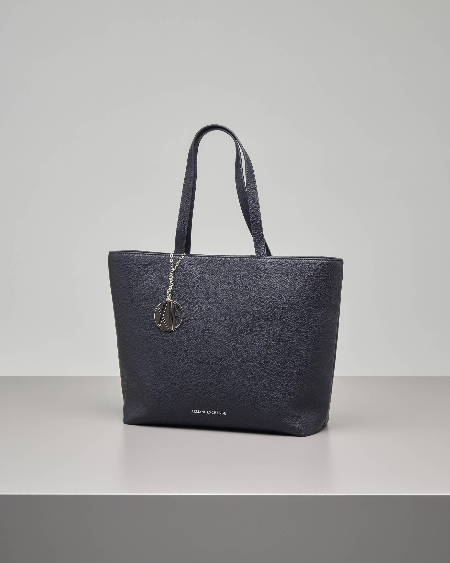 Shopping bag blu misura media