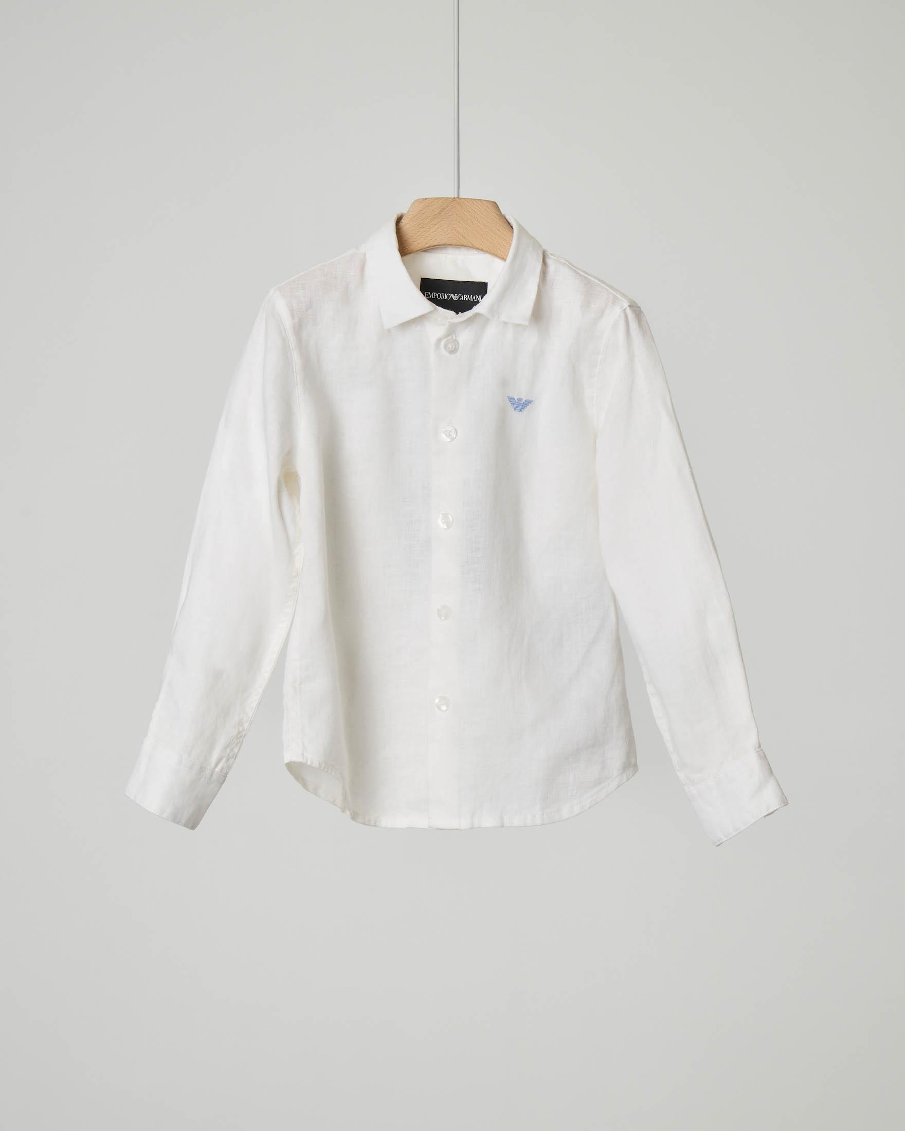 Camicia bianca in lino