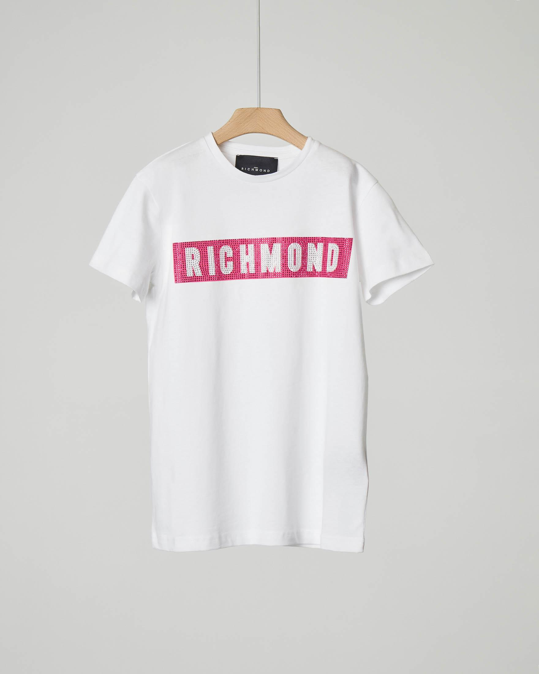 T-shirt bianca con strass