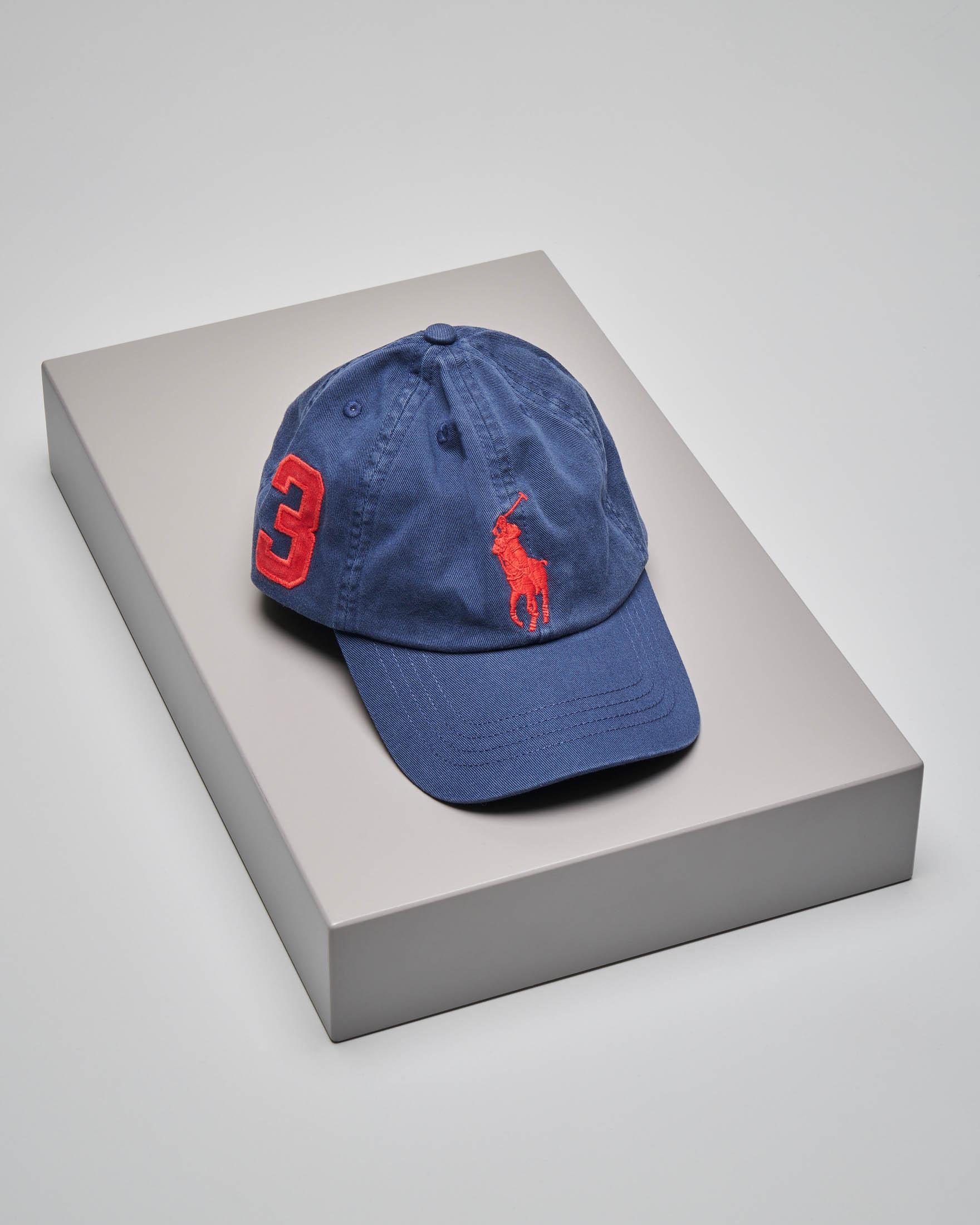 Cappellino blu con logo big pony
