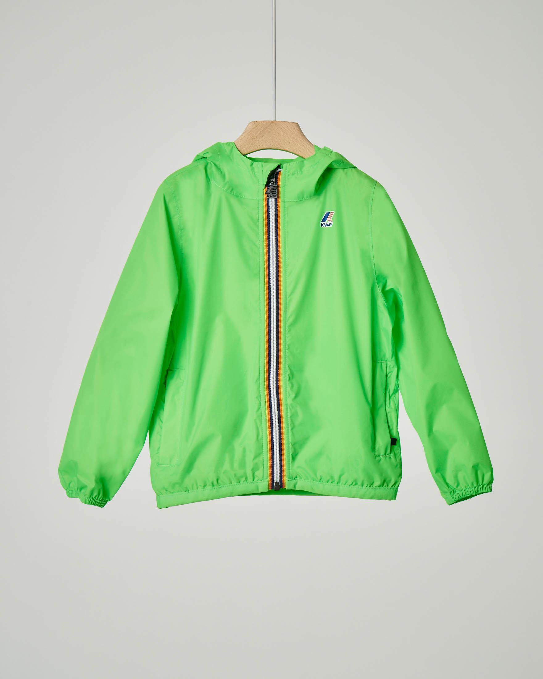 K-way verde fluo impacchettabile