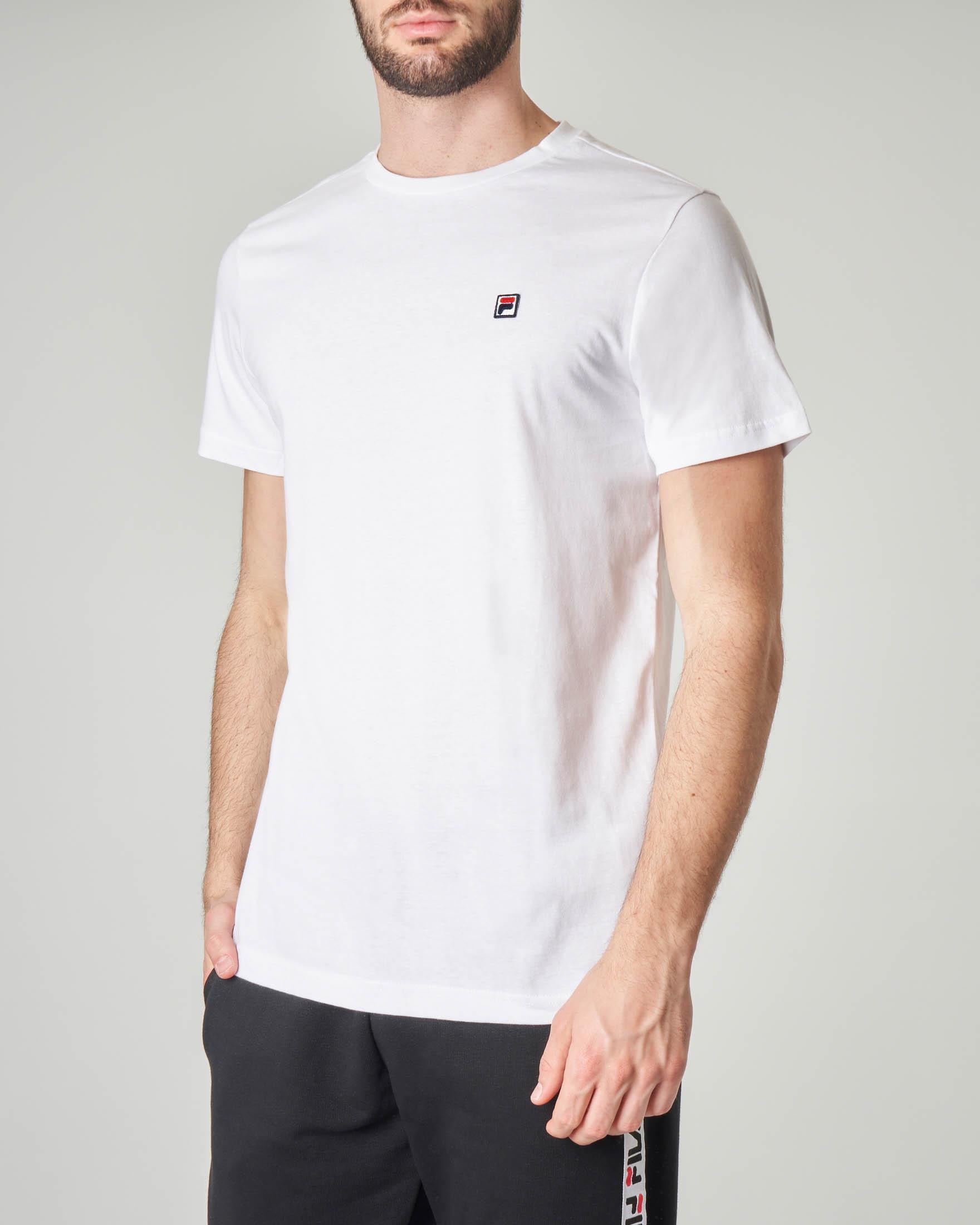 T-shirt bianca con logo piccolo