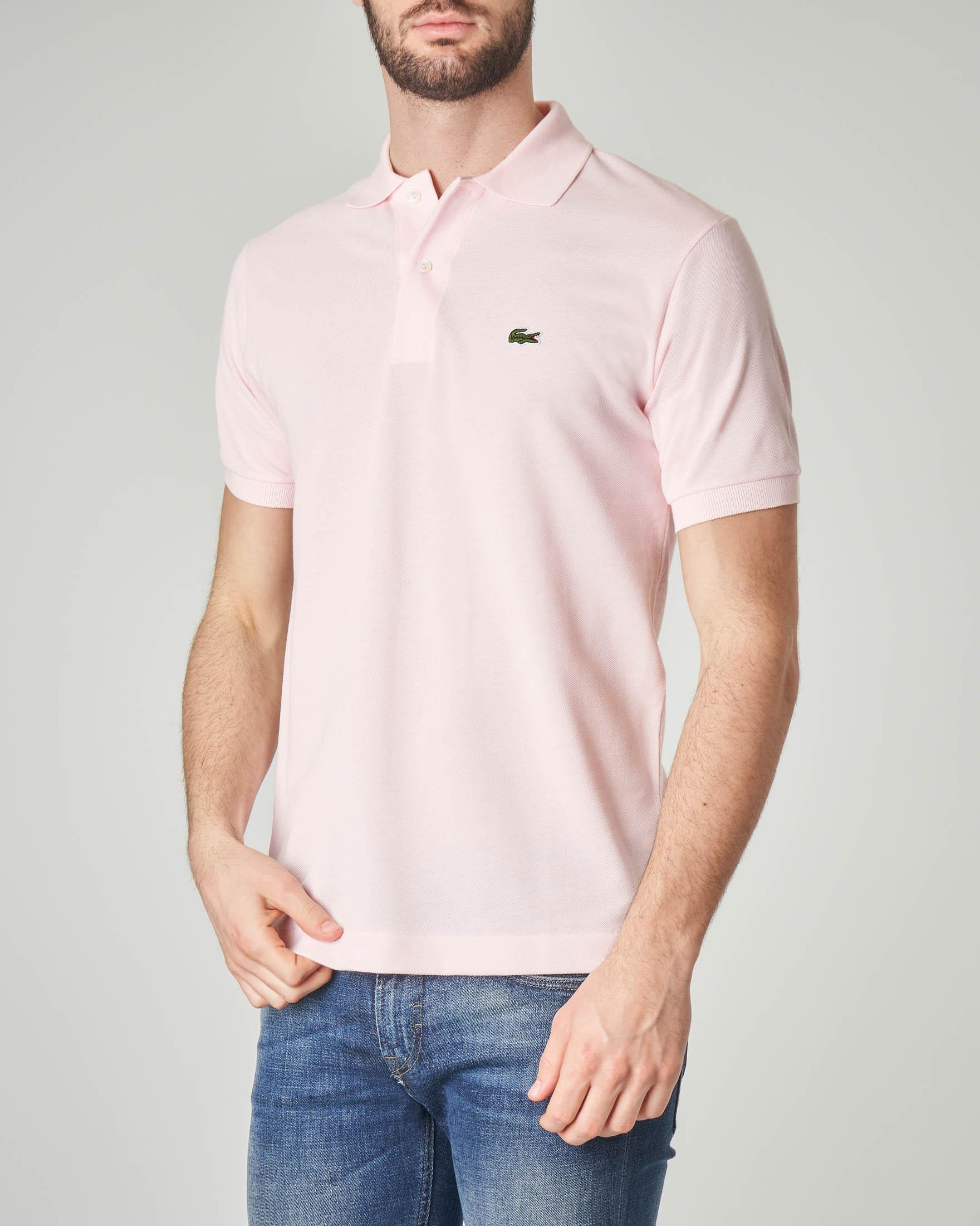 Polo rosa classic fit 1212 in petit piqué