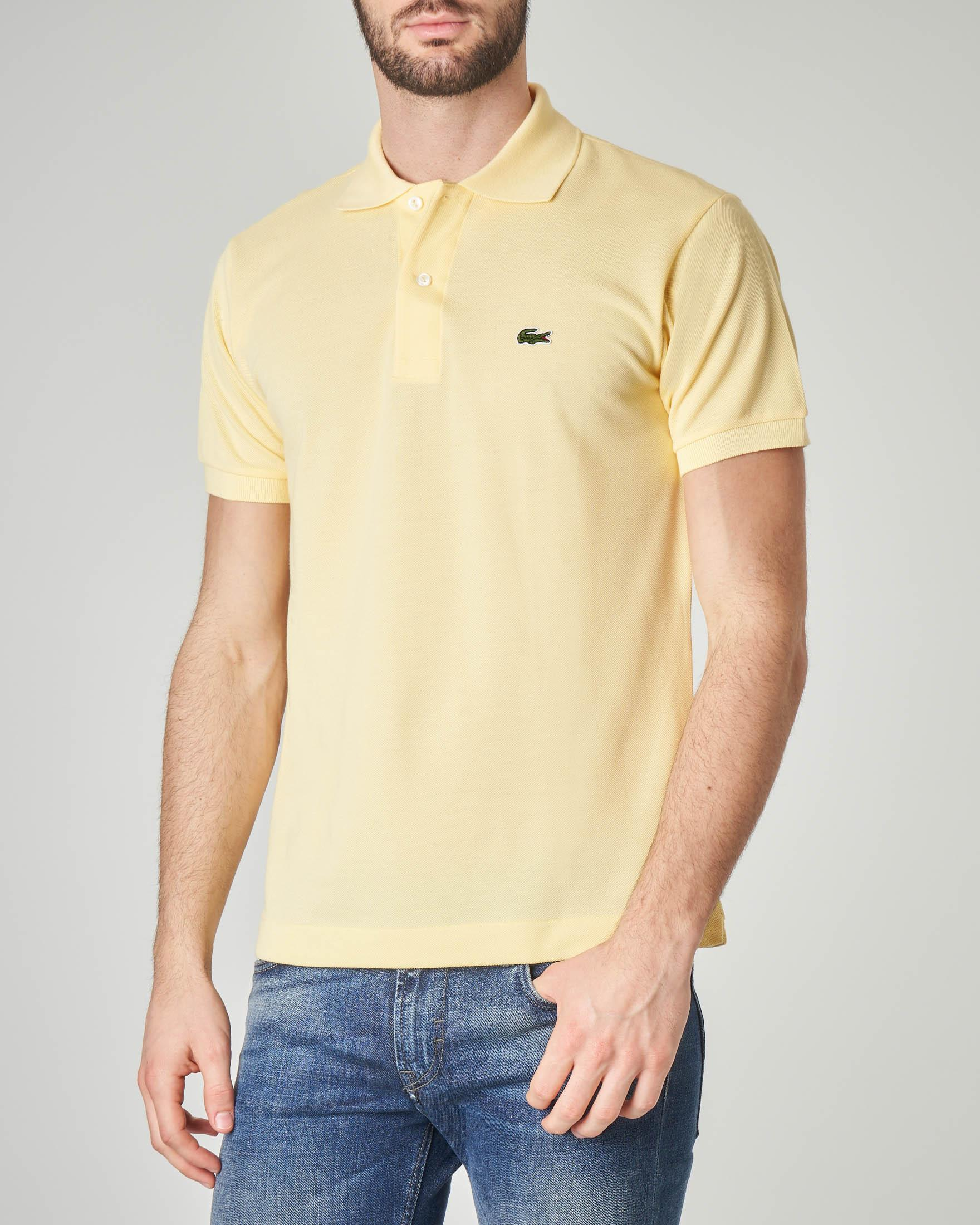 Polo gialla classic fit 1212 in petit piqué