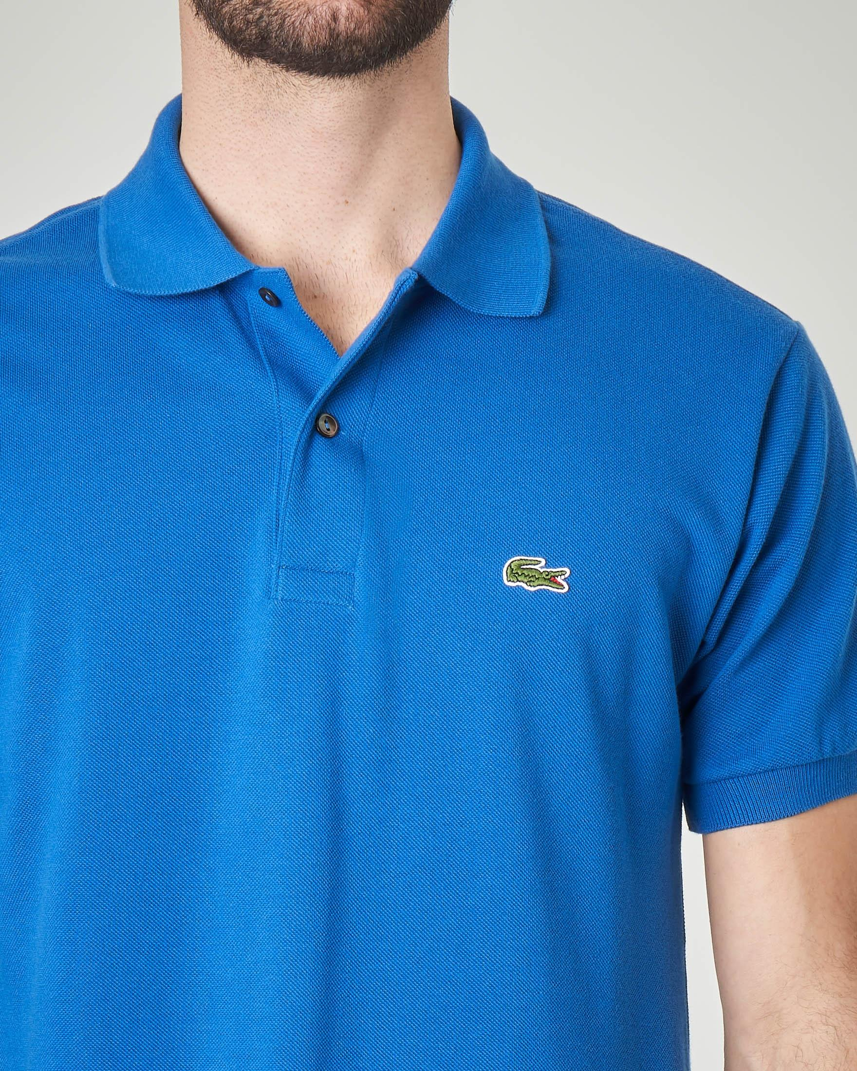 Polo blu royal classic fit 1212 in petit piqué