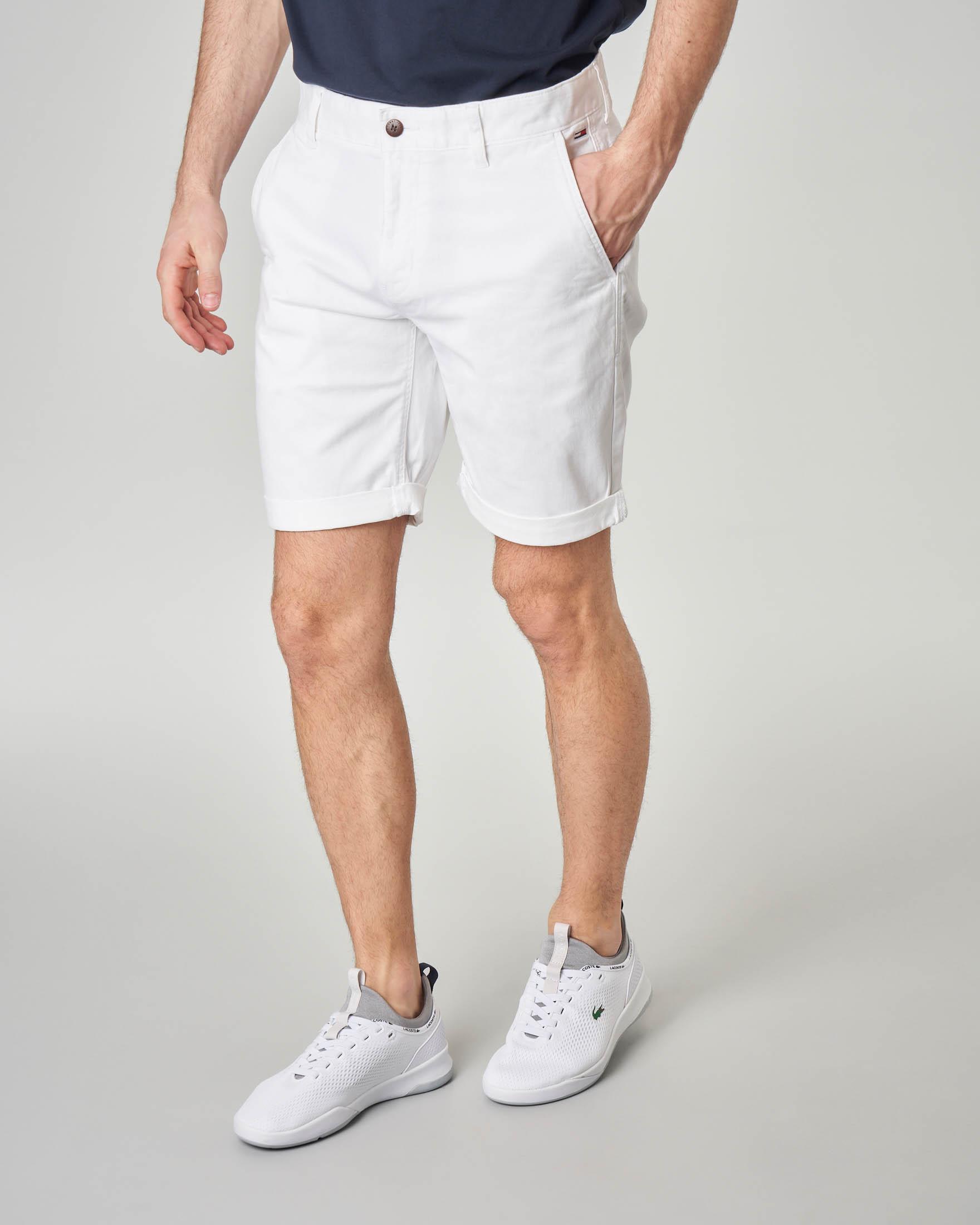 Bermuda chino bianco in cotone elasticizzato