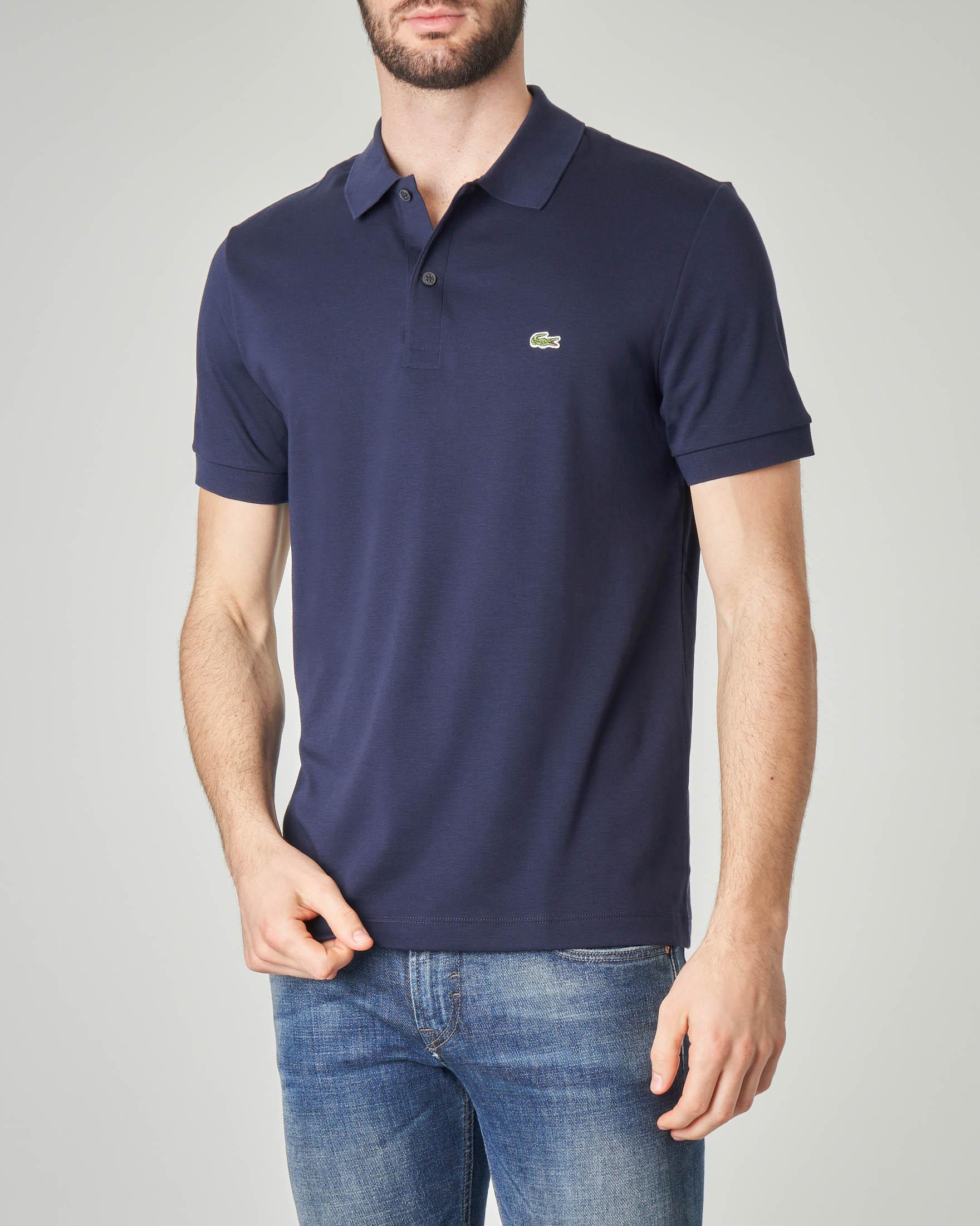 Polo blu in jersey leggero