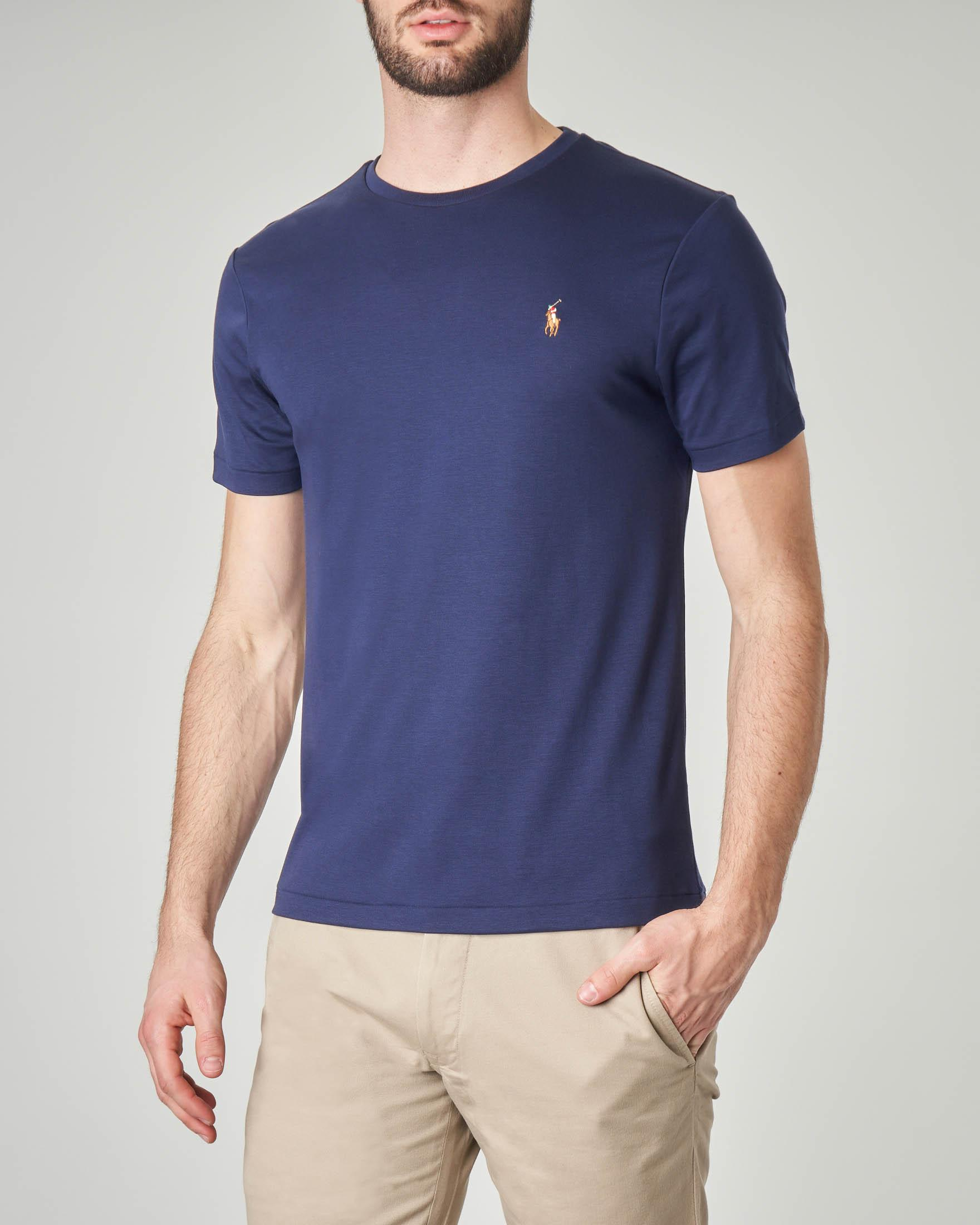 T-shirt blu in pima cotton