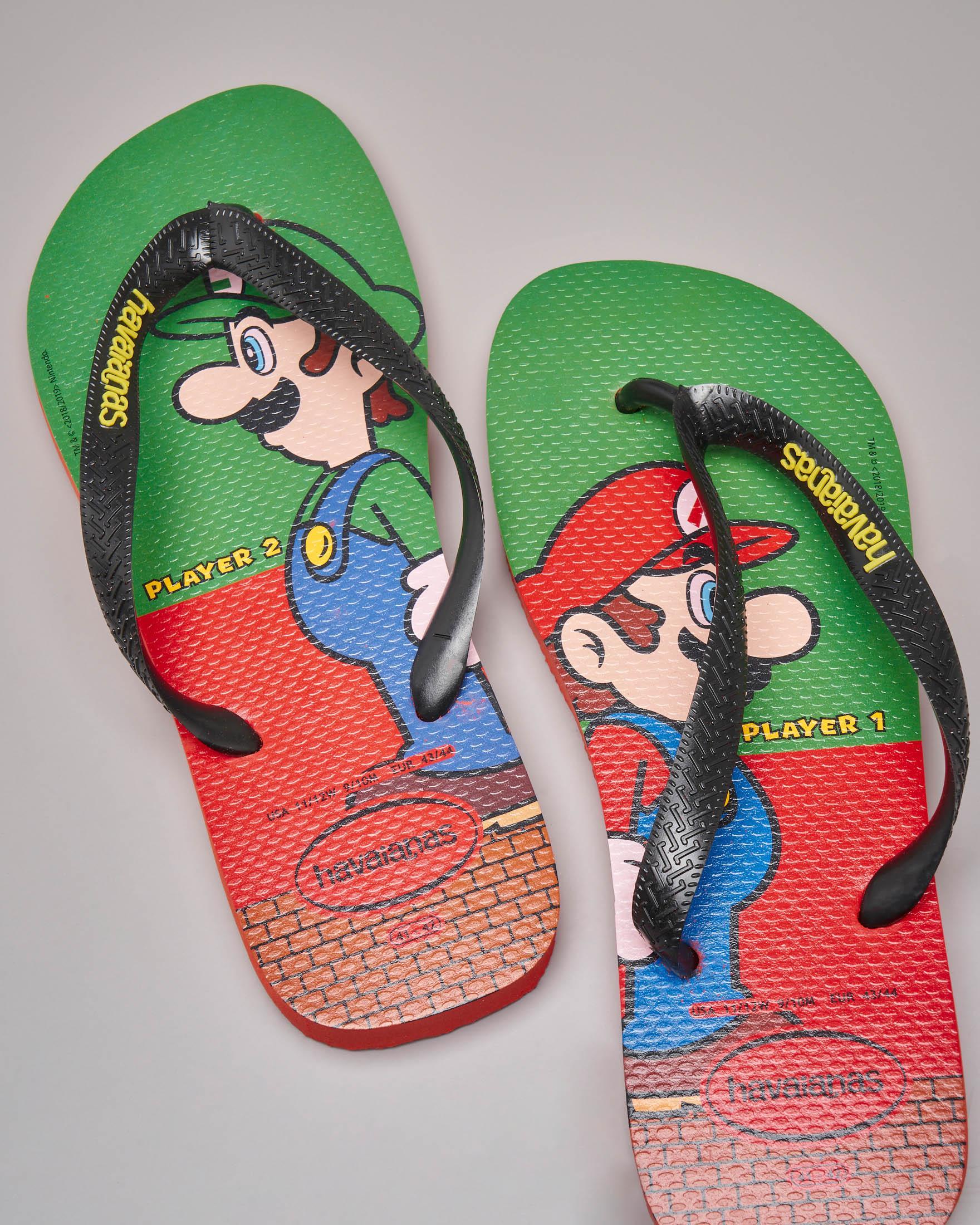 Havaianas verde e rossa con Mario e Luigi Bros