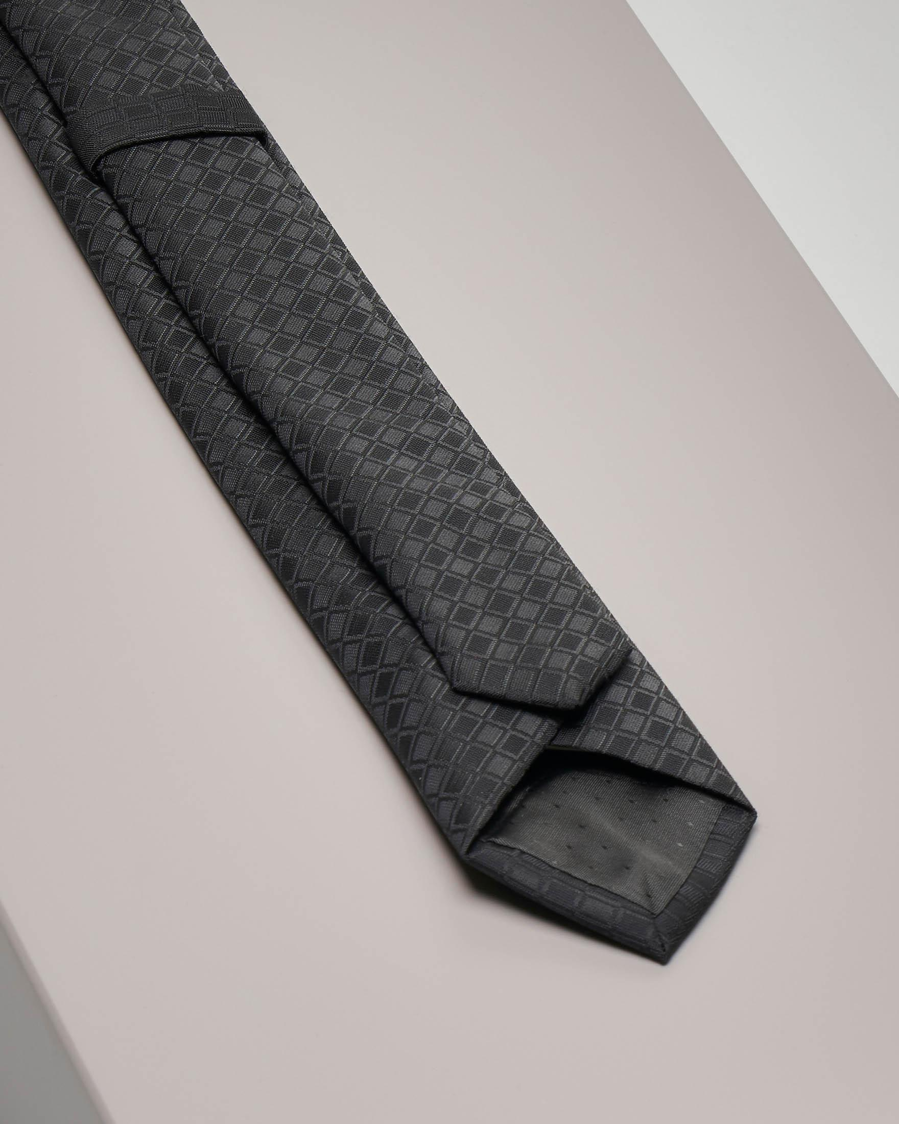 Cravatta nera fantasia rombetto