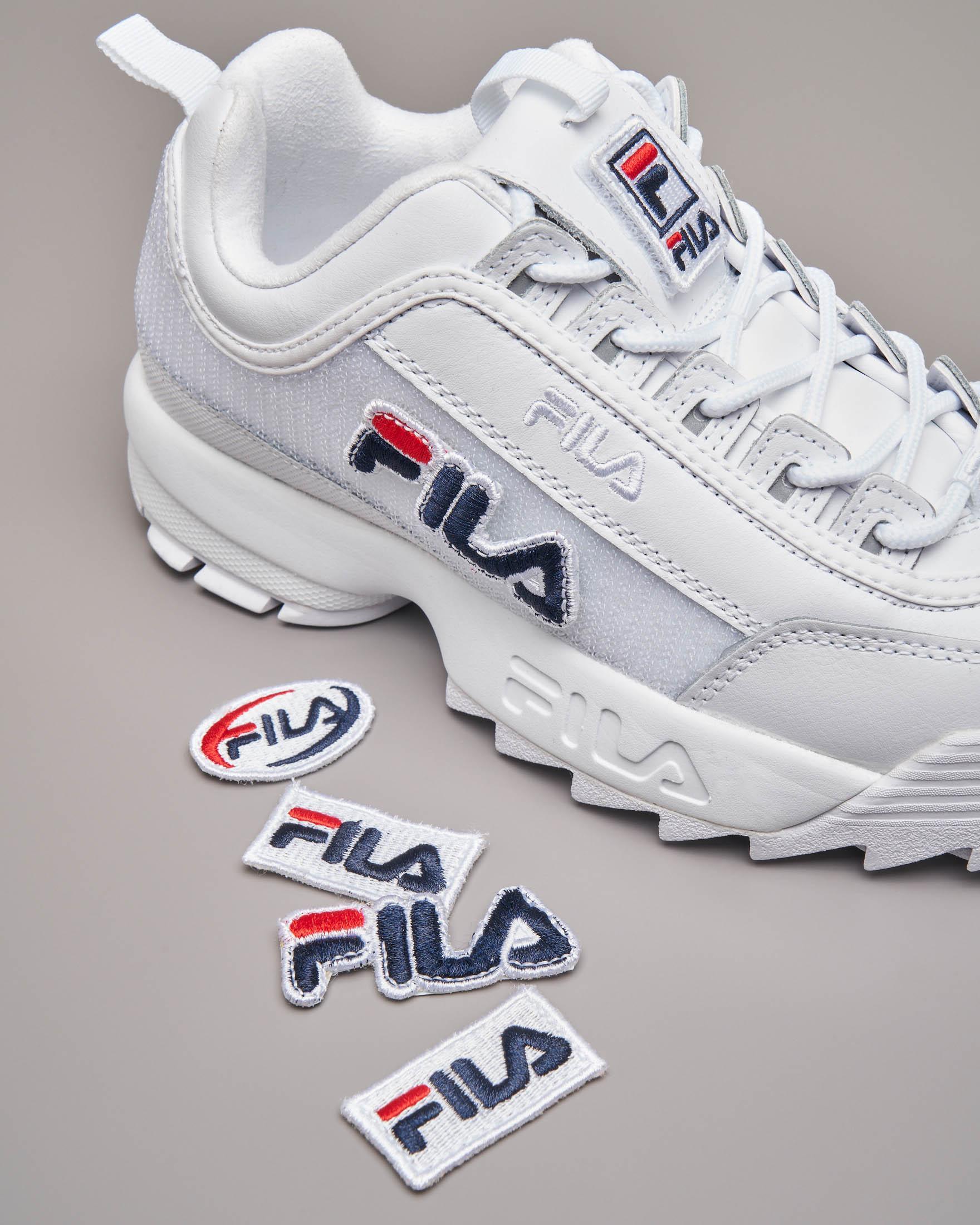 Sneaker Fila Disruptor bianca con patches | Pellizzari E commerce