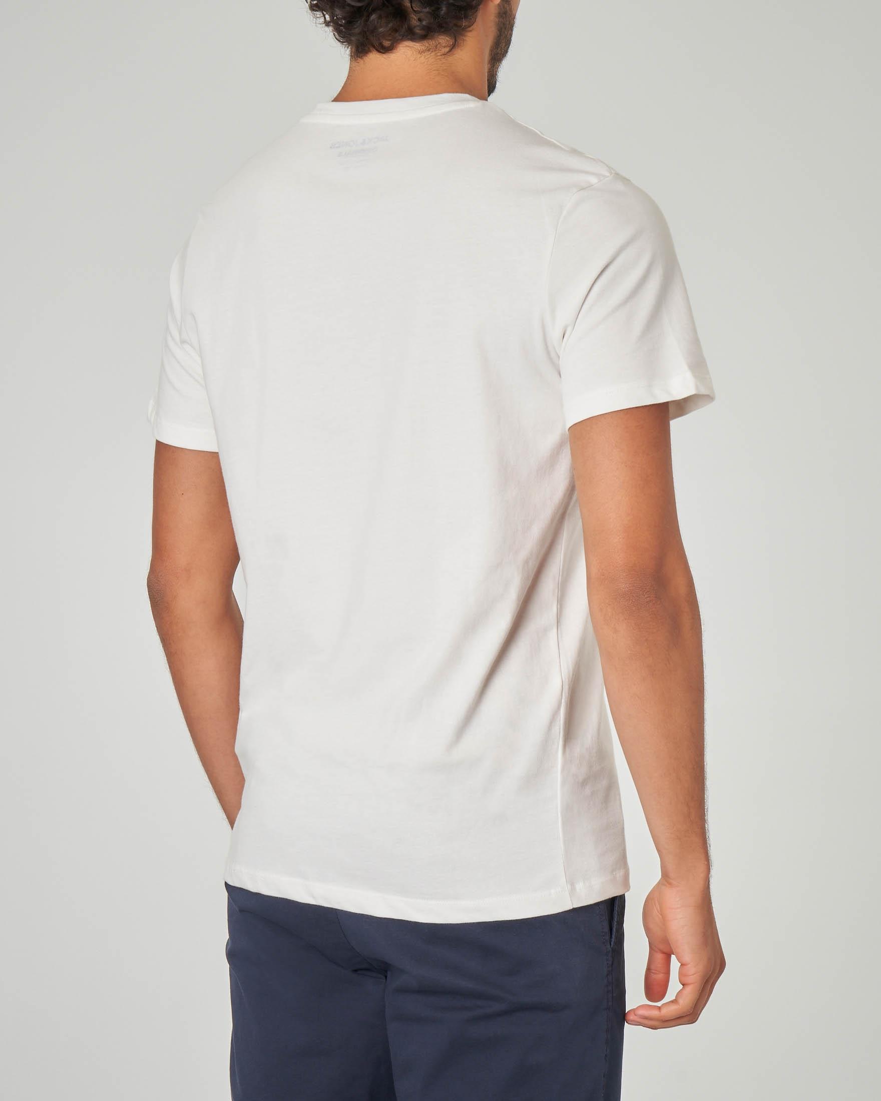 T-shirt bianca surf