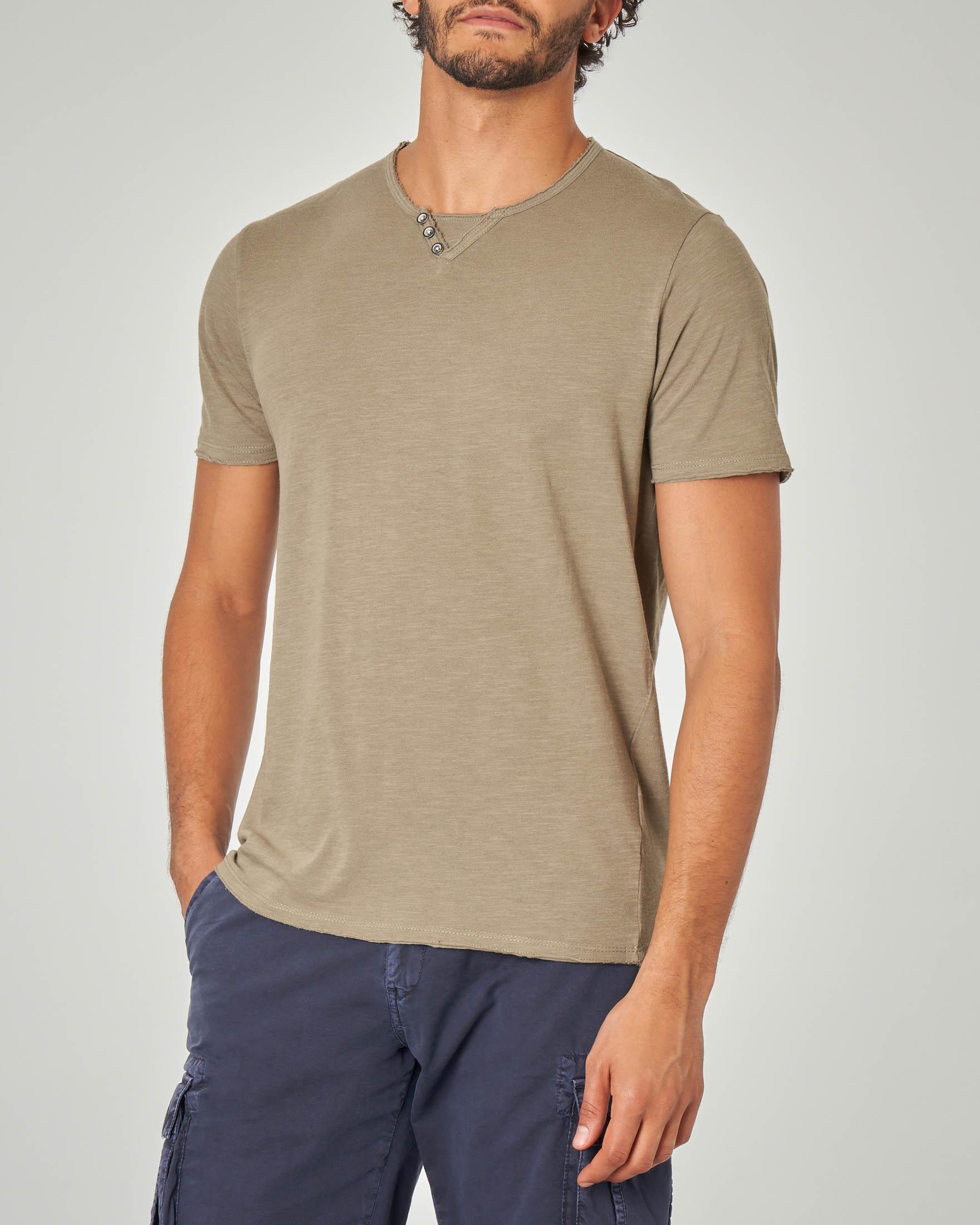 T-shirt verde militare serafino