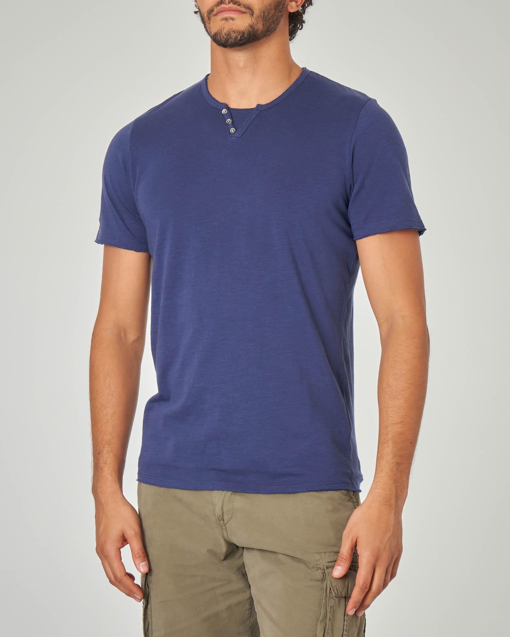 T-shirt blu serafino