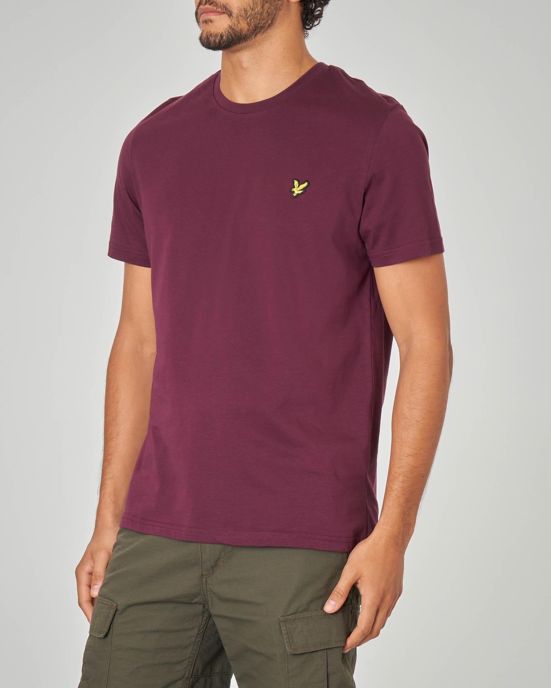 T-shirt bordeaux tinta unita