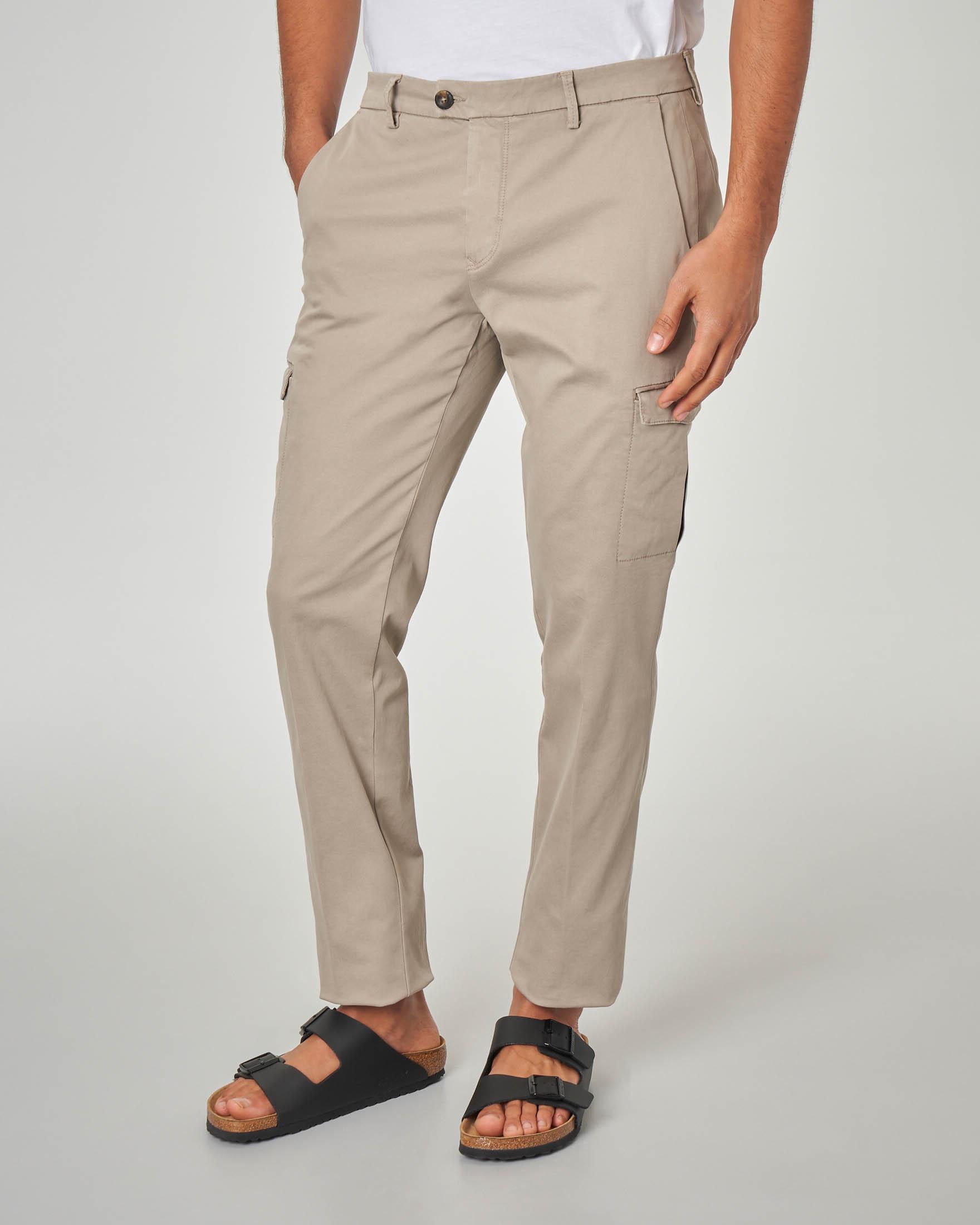 Pantalone beige tasconato