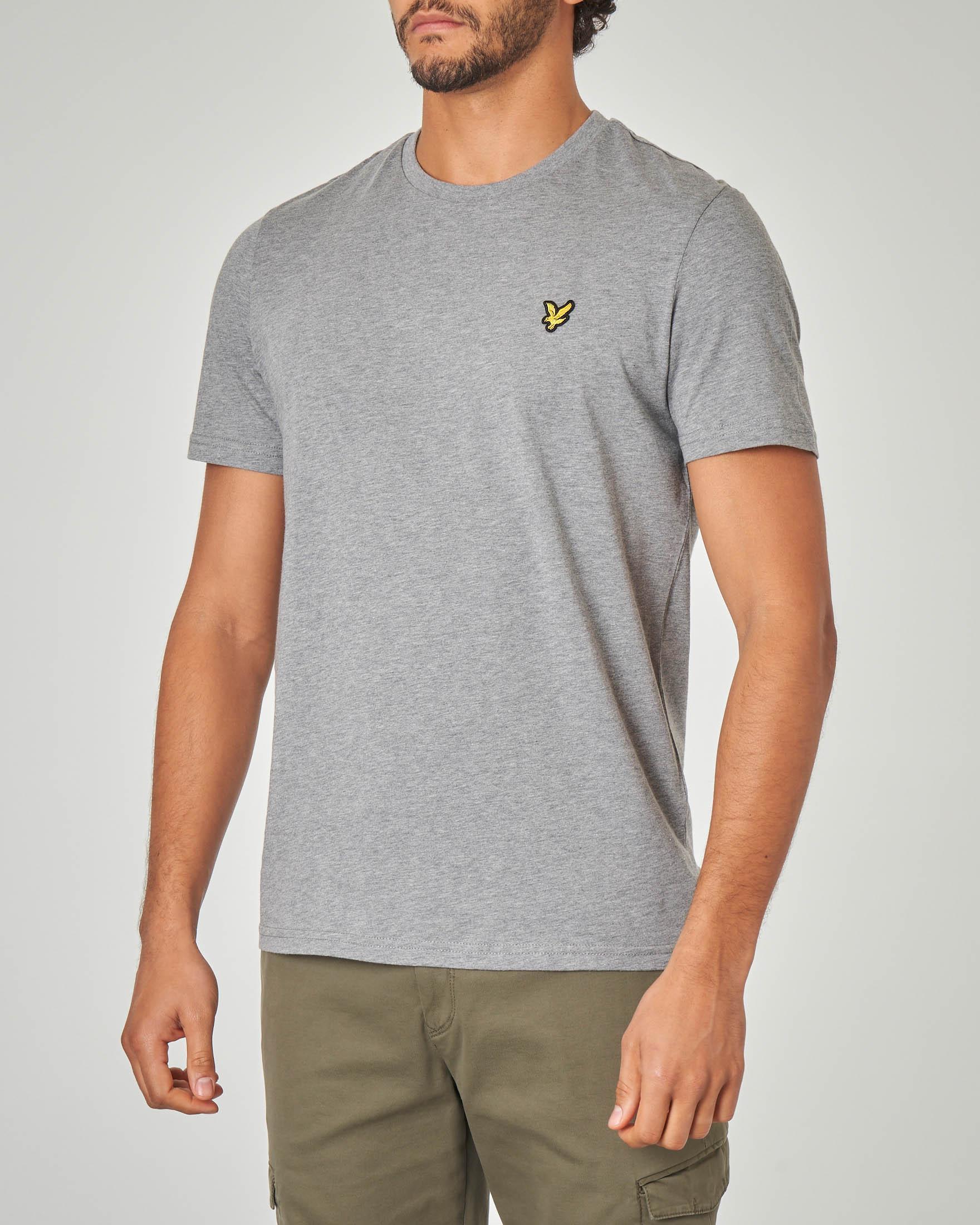 T-shirt grigio melange tinta unita