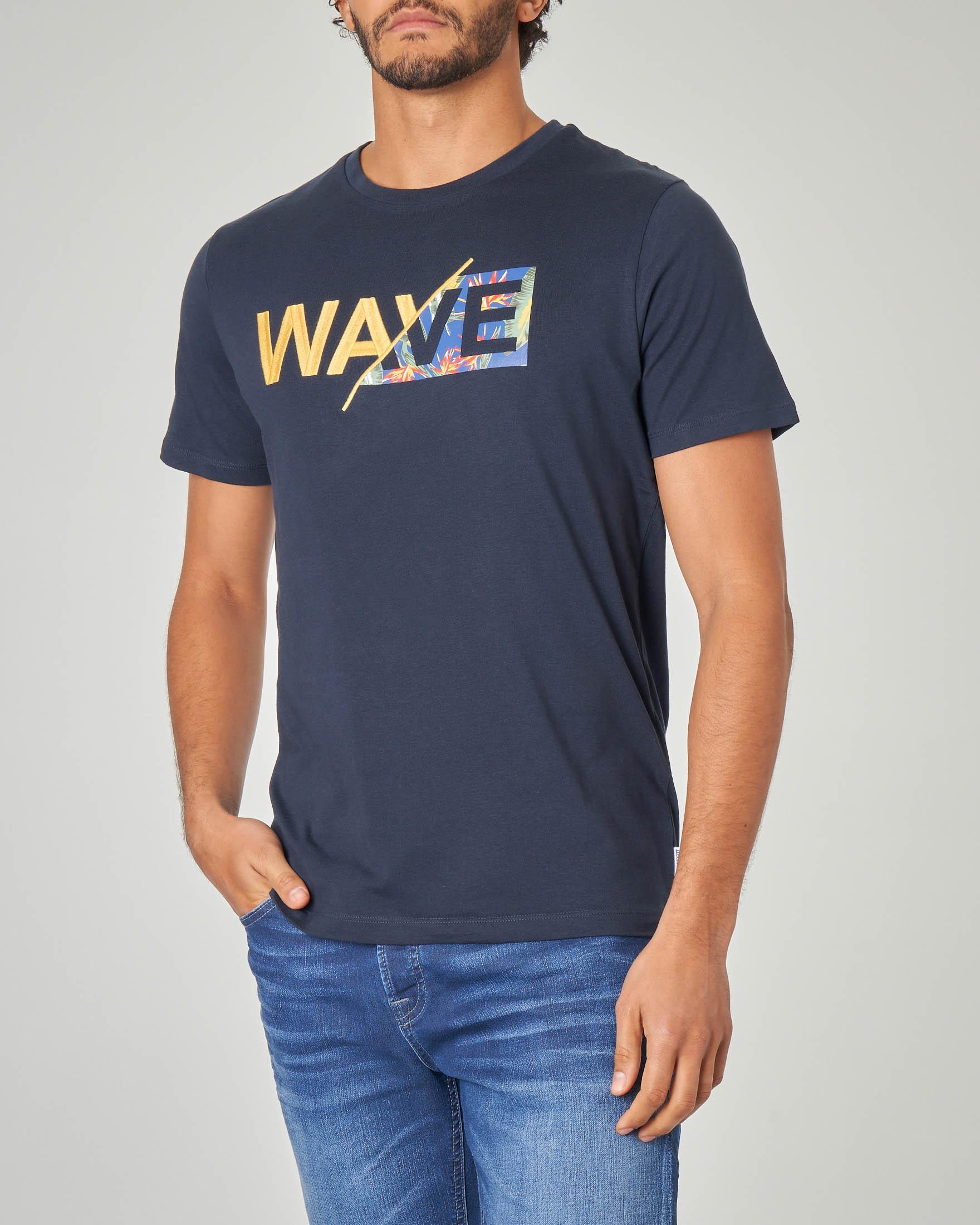 T-shirt blu wave