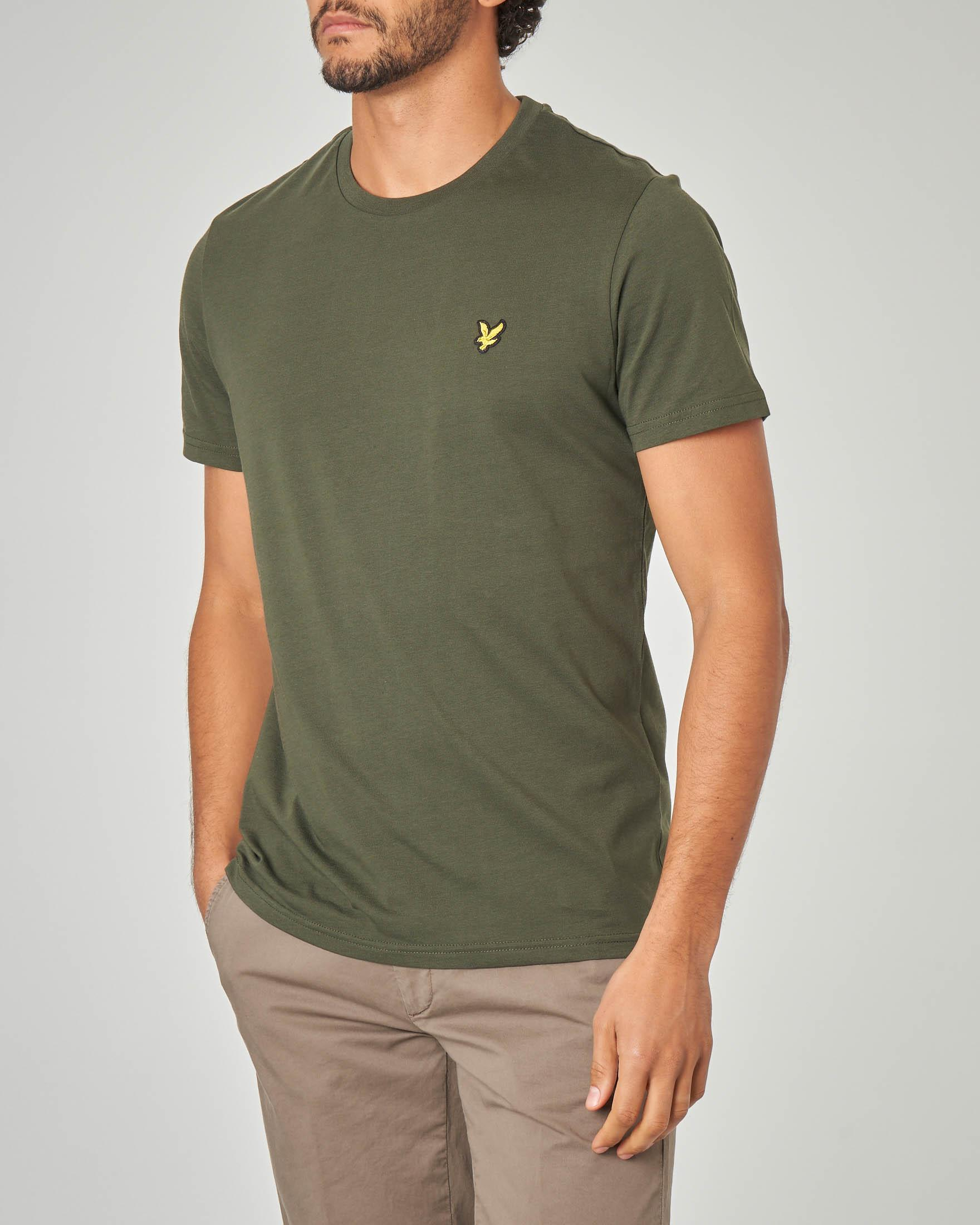 T-shirt verde militare tinta unita