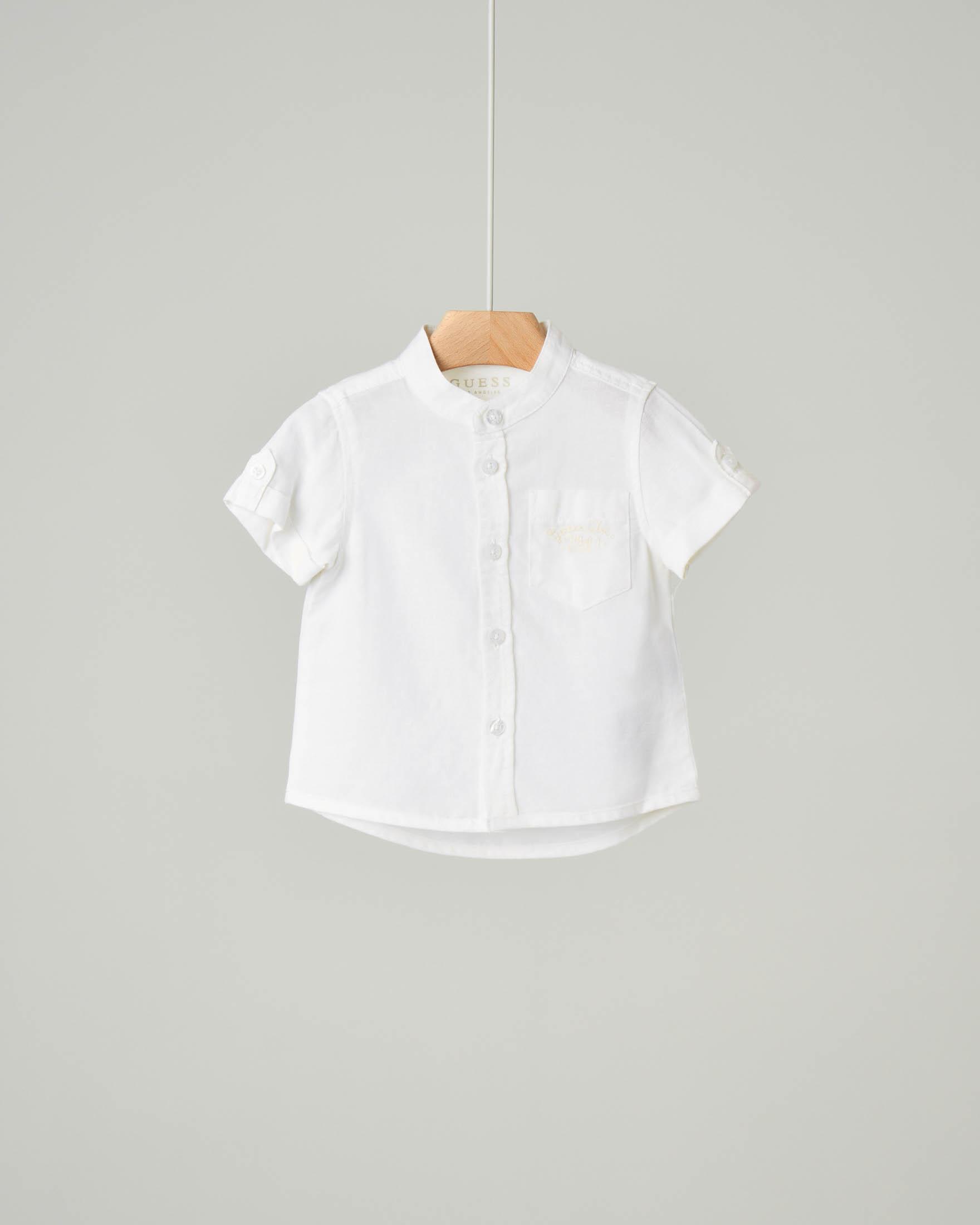 Camicia mezza manica bianca coreana