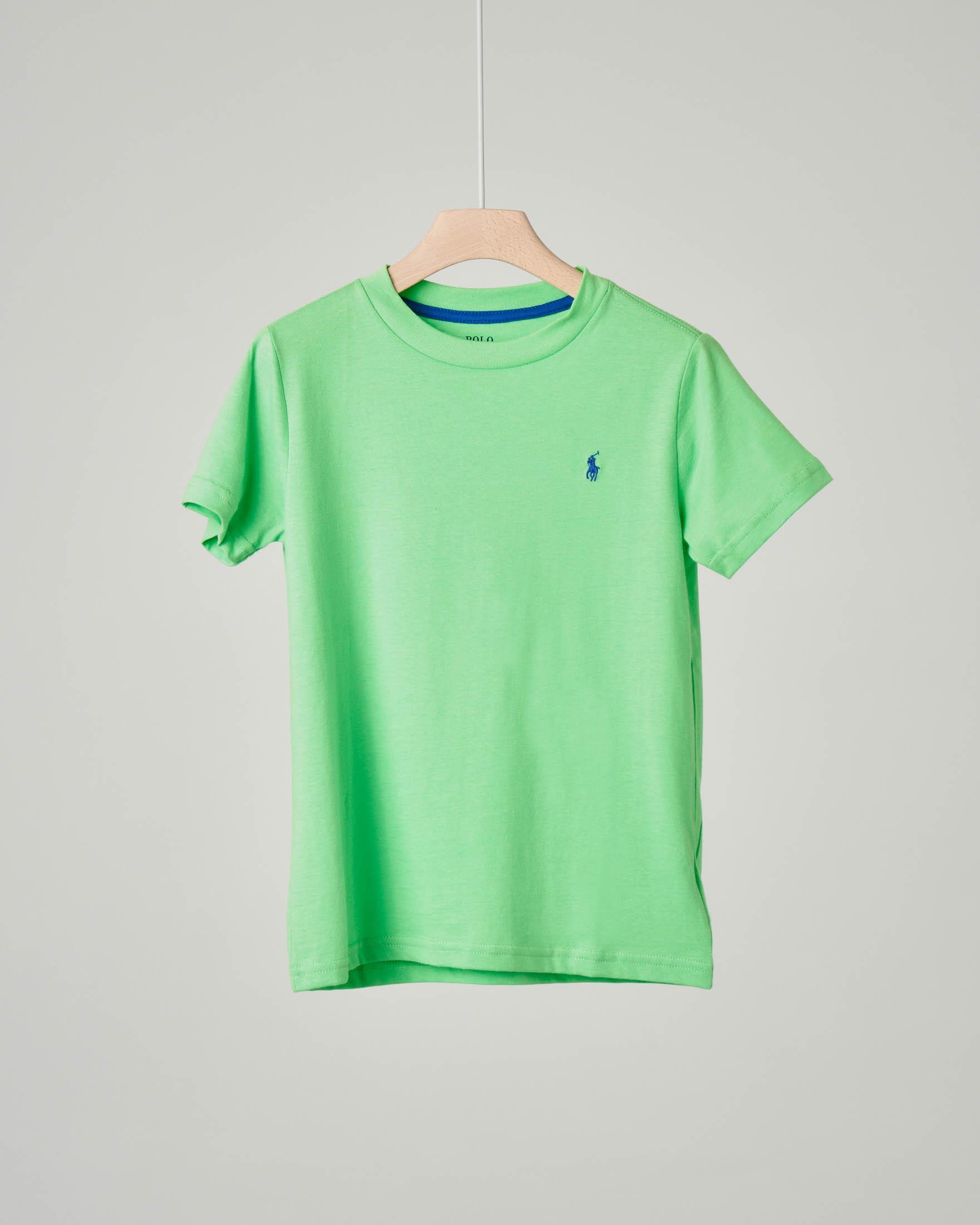 T-shirt verde tinta unita