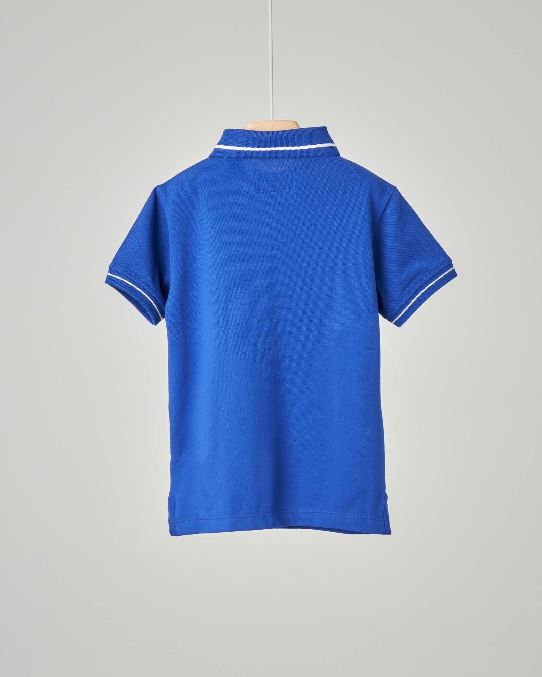 Polo blu royal con bordino
