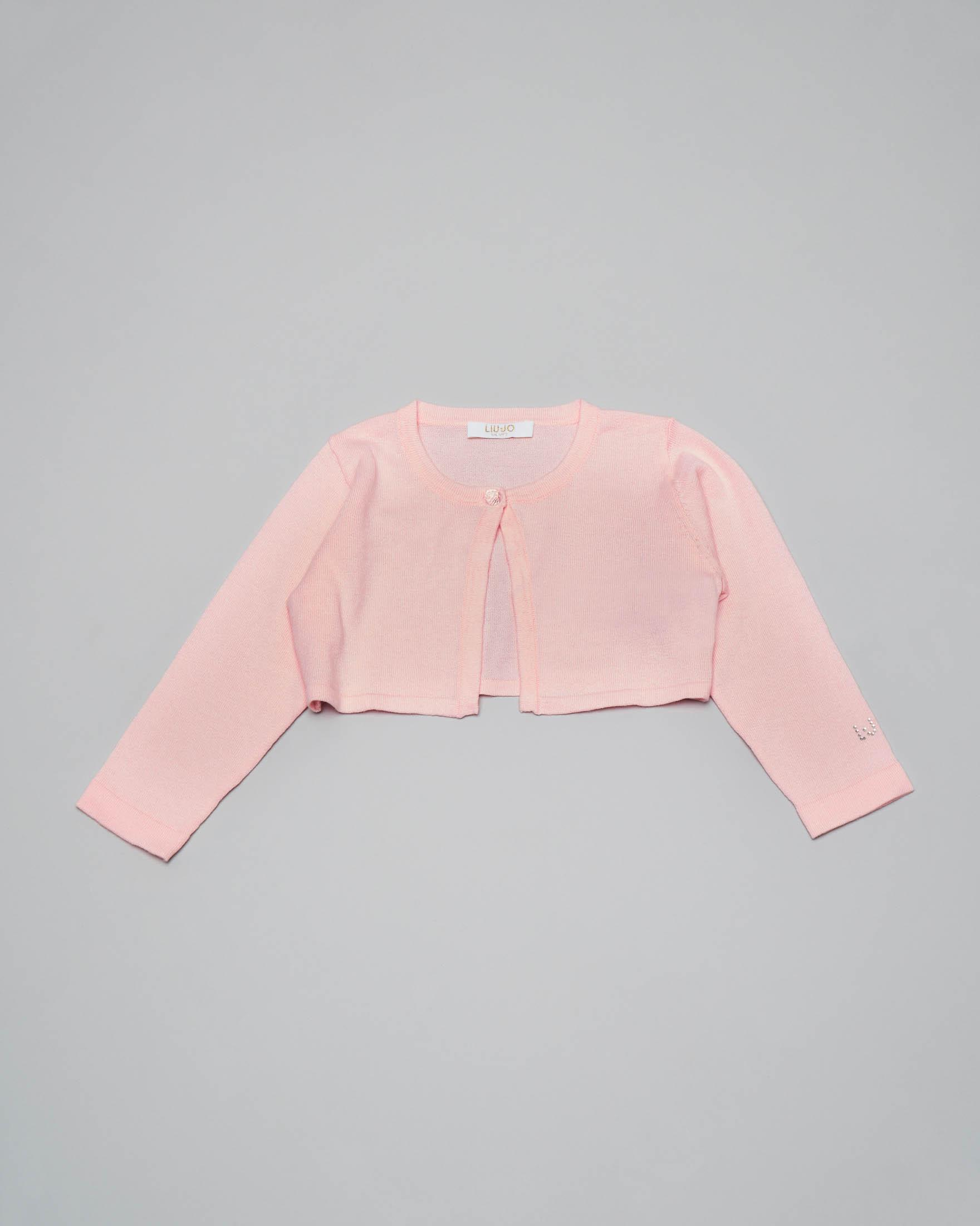 Coprispalle rosa in cotone con chiusura a un bottone