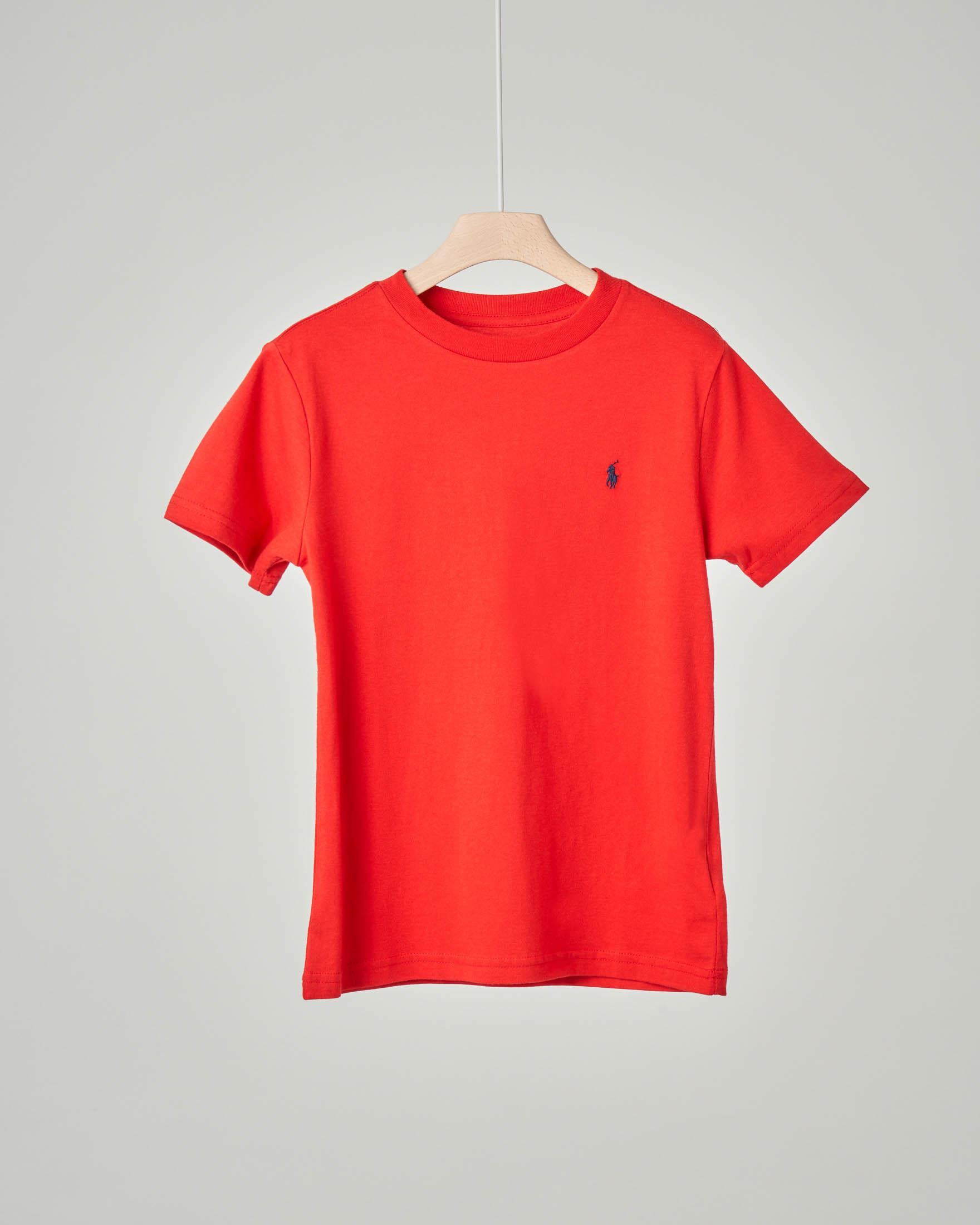 T-shirt rossa tinta unita