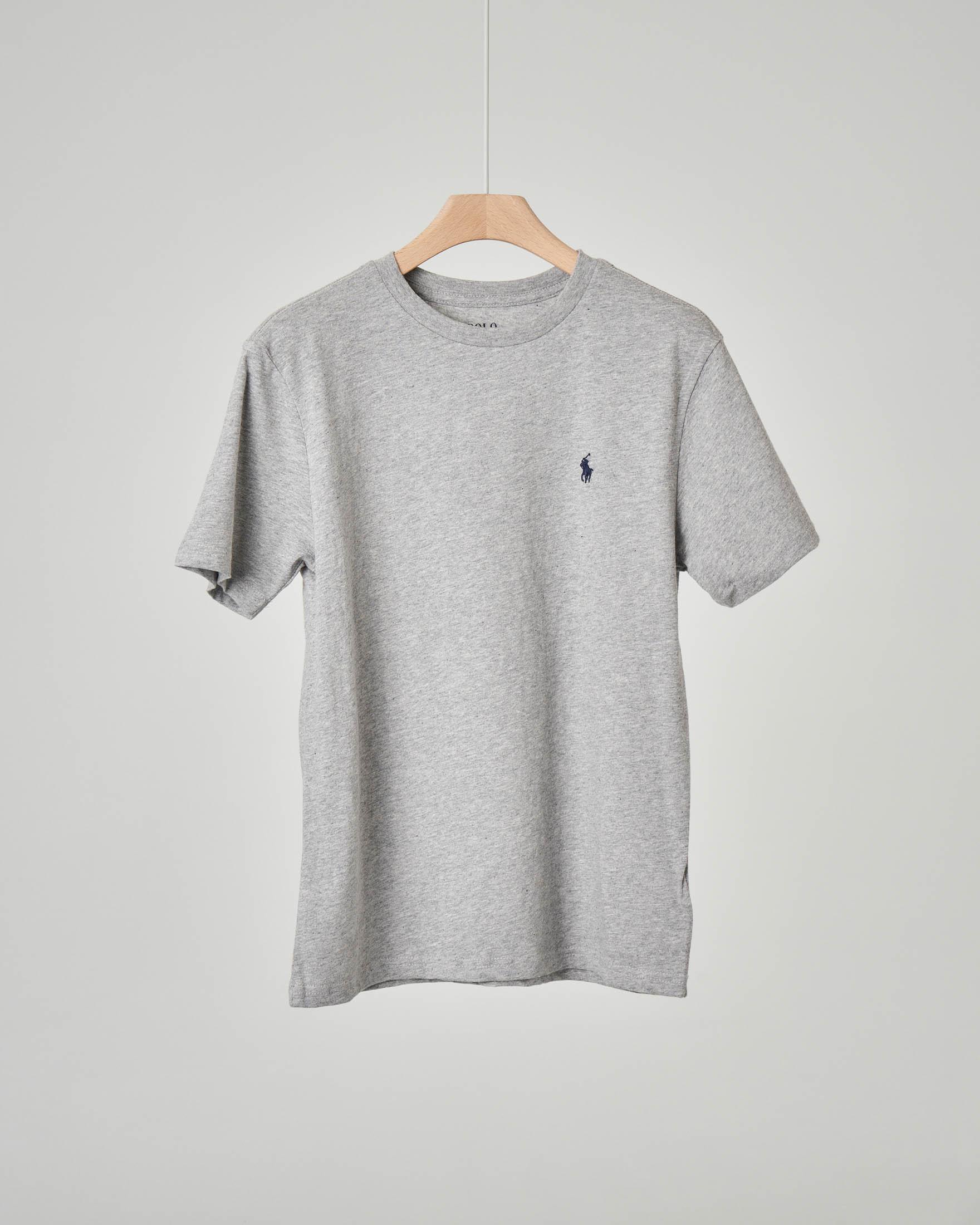 T-shirt grigia tinta unita