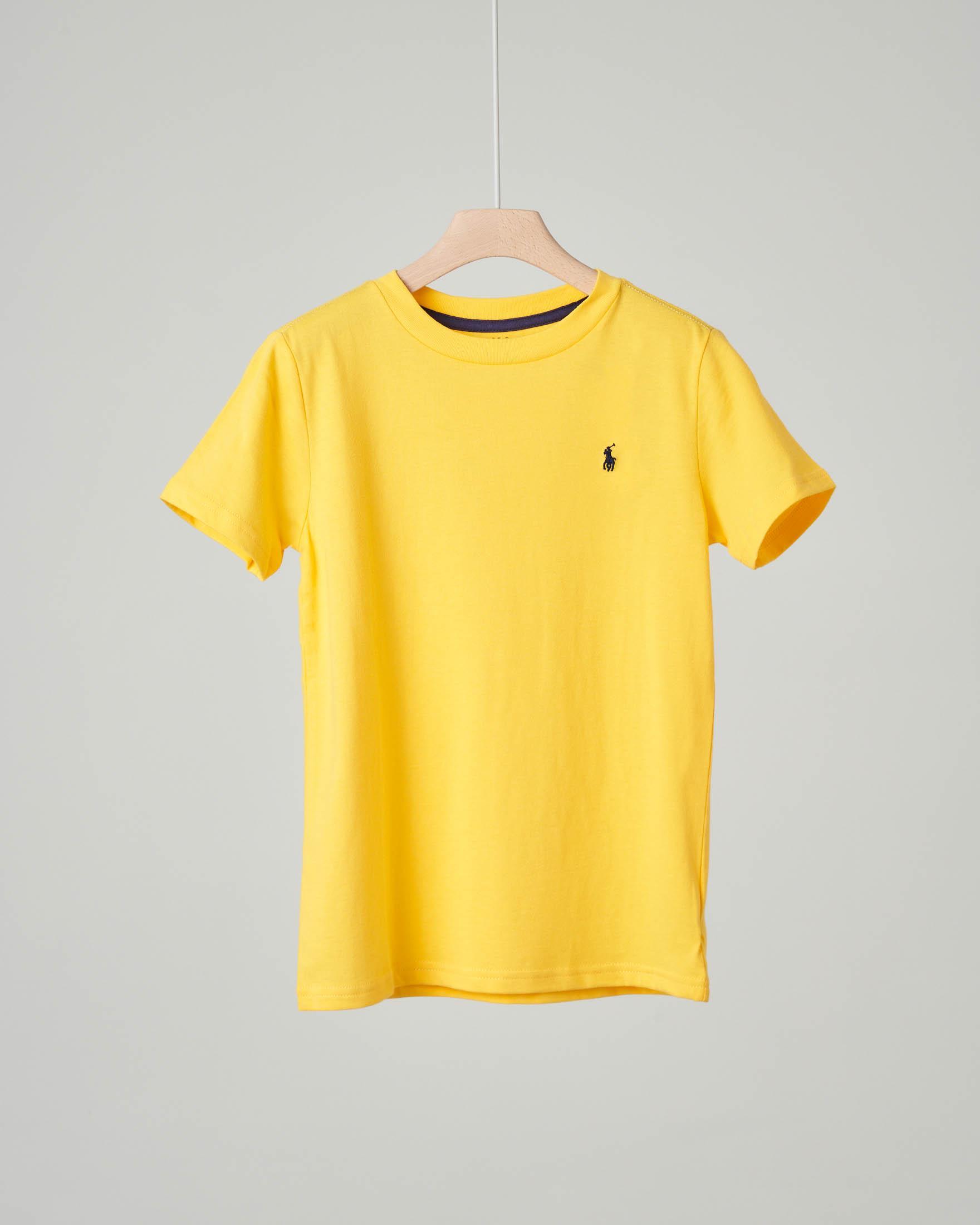 T-shirt gialla tinta unita