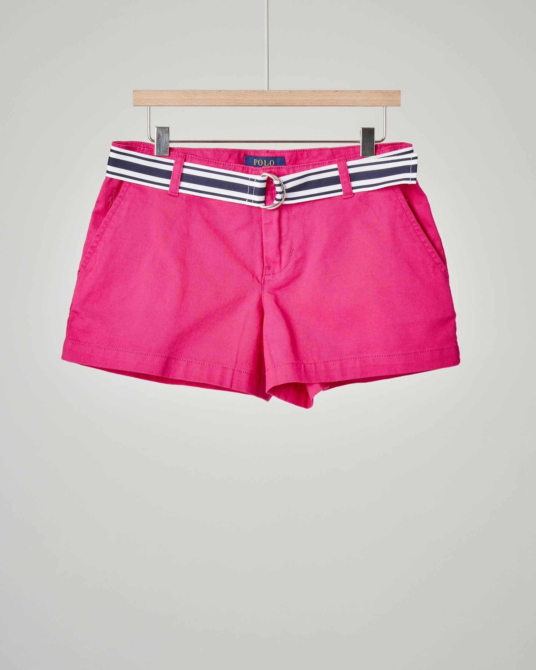 Shorts fucsia con cintura 10-12 anni