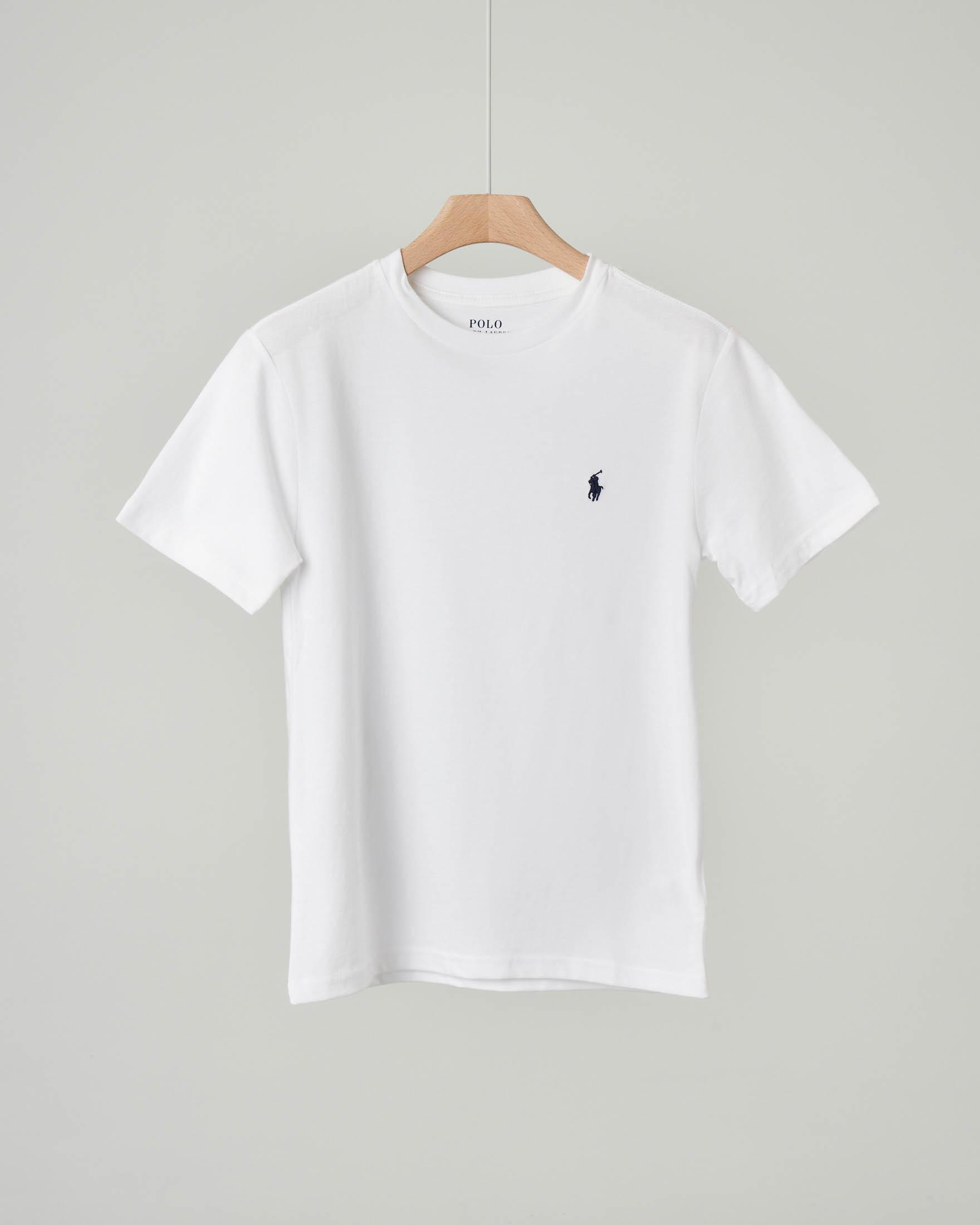 T-shirt bianca tinta unita