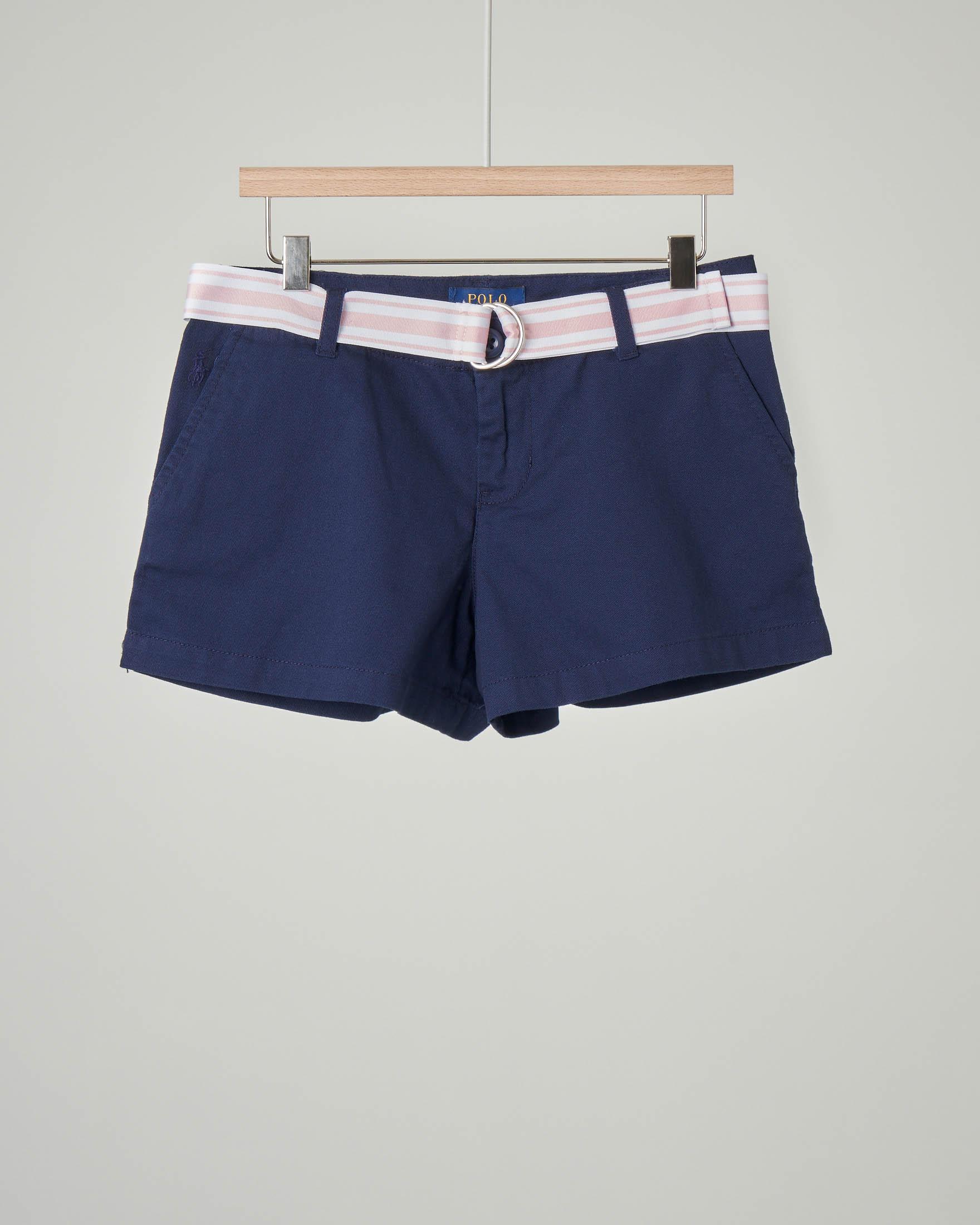 Shorts blu con cintura 8 anni