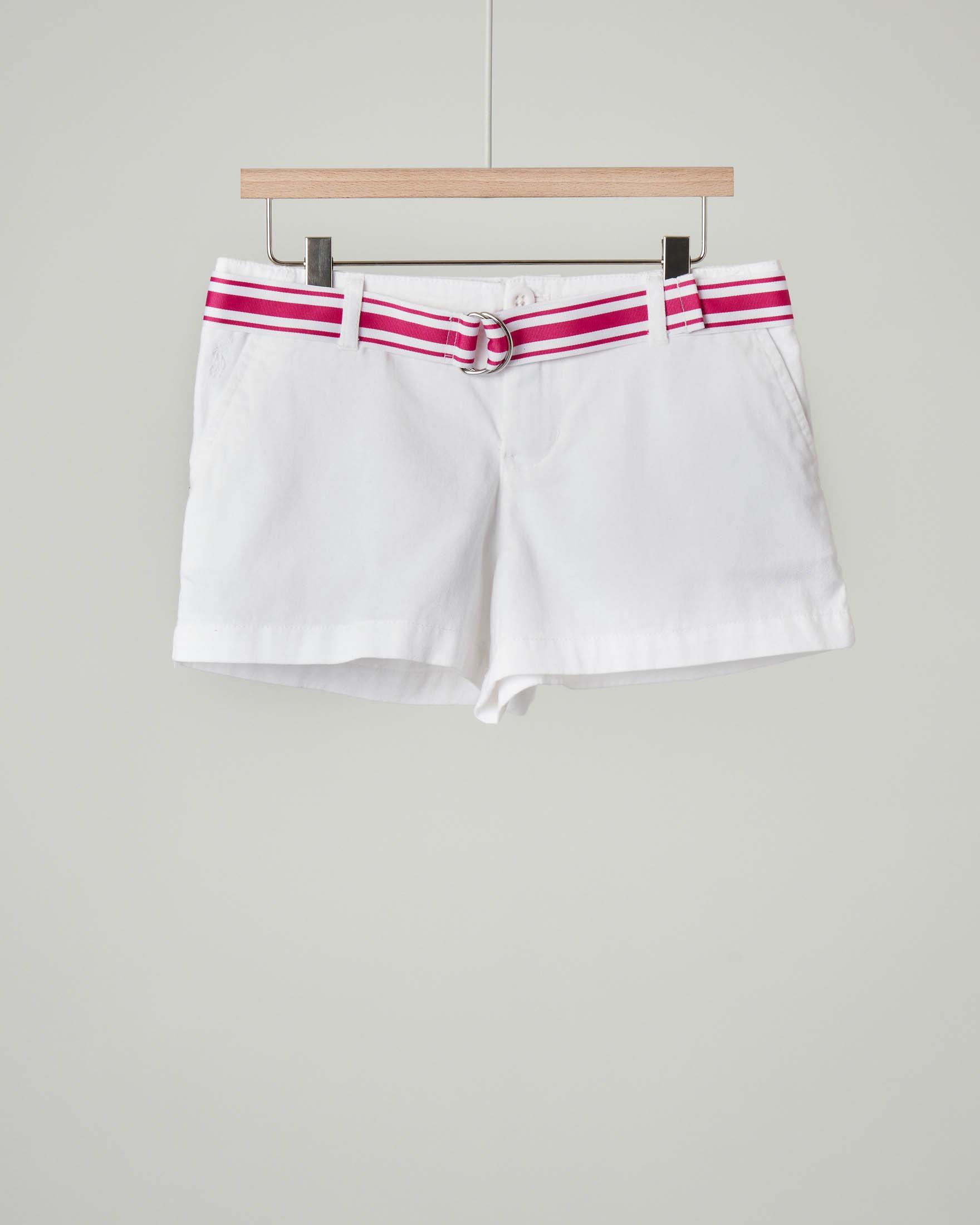 Shorts bianco con cintura 4-6 anni