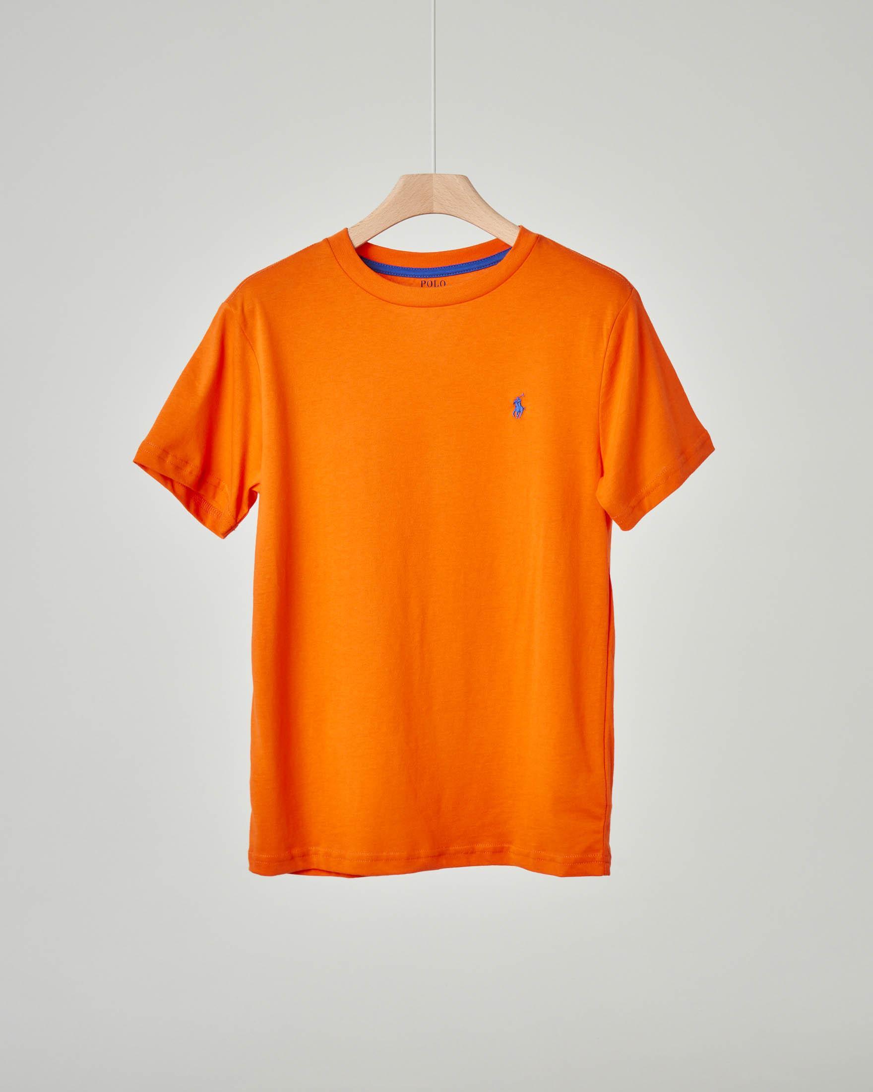 T-shirt arancione tinta unita