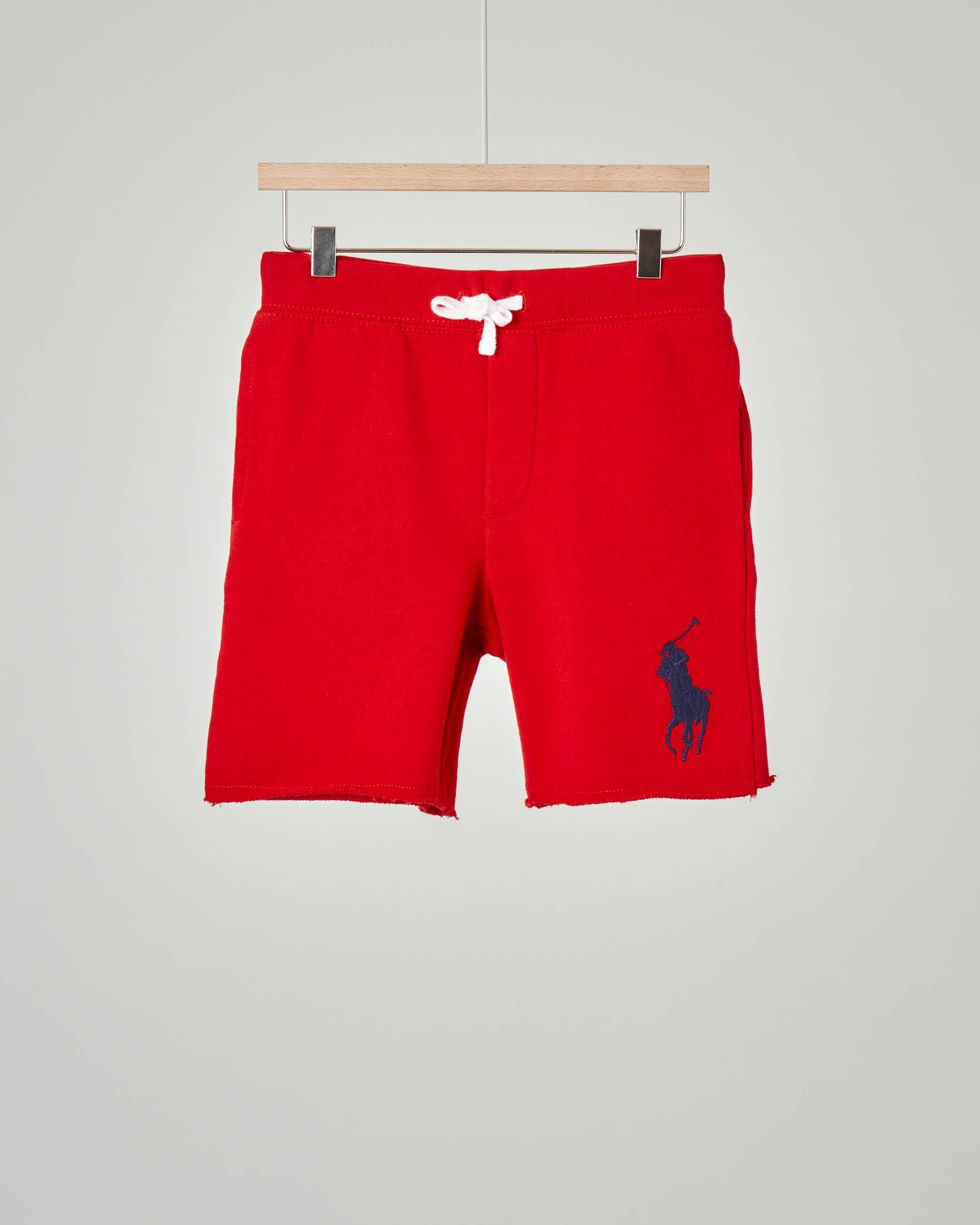 Bermuda rosso in felpa