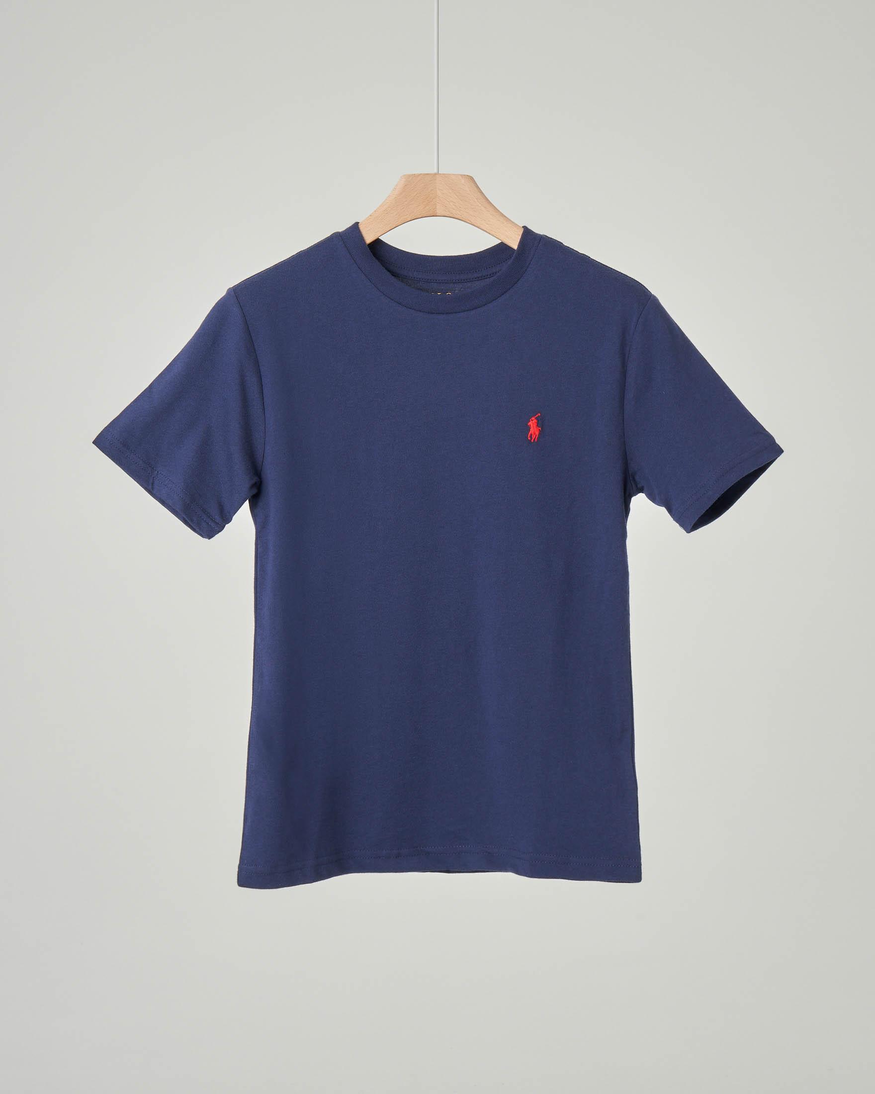 T-shirt blu tinta unita
