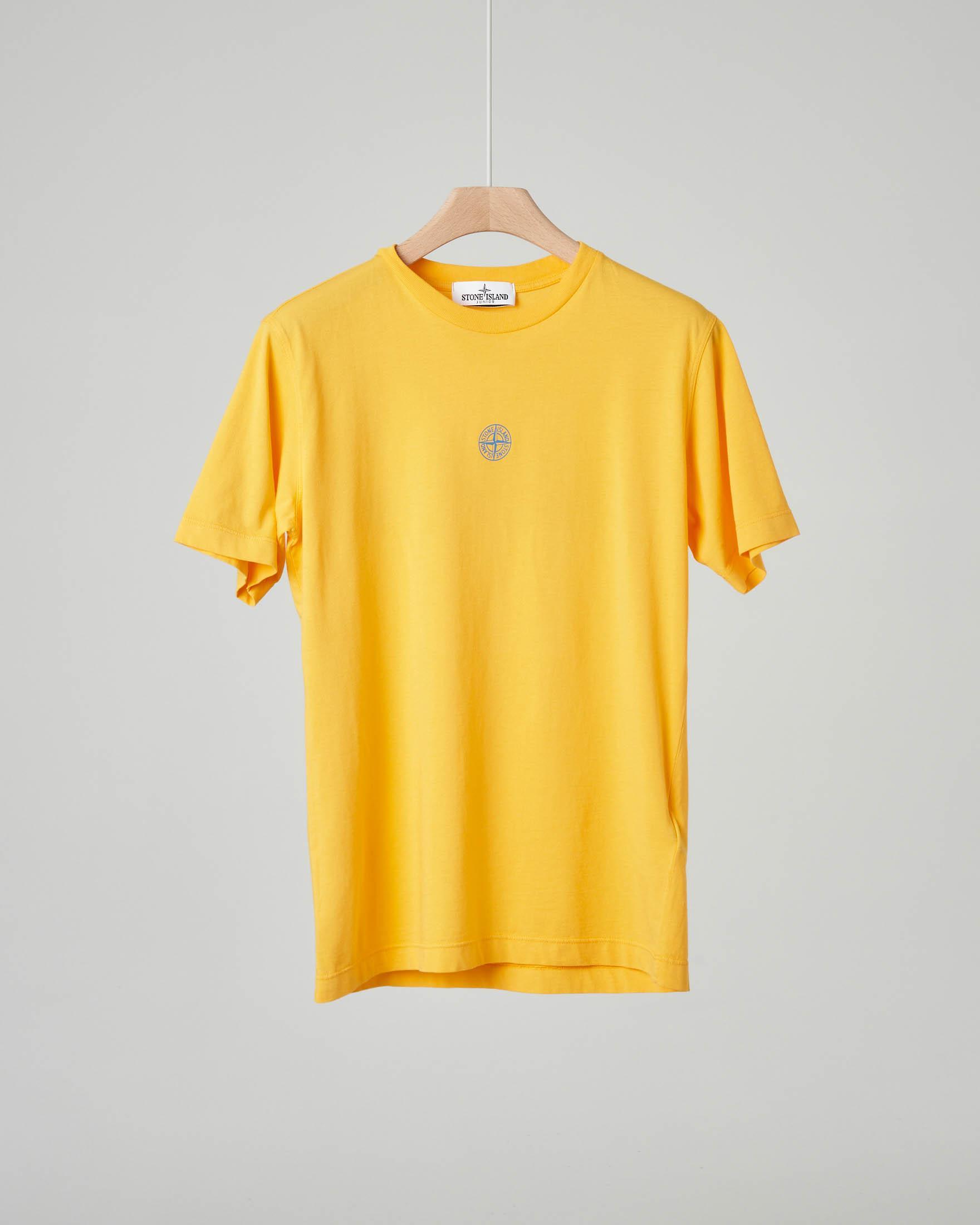 T-shirt gialla con stampa logo e rosa dei venti sul retro 10-14 anni