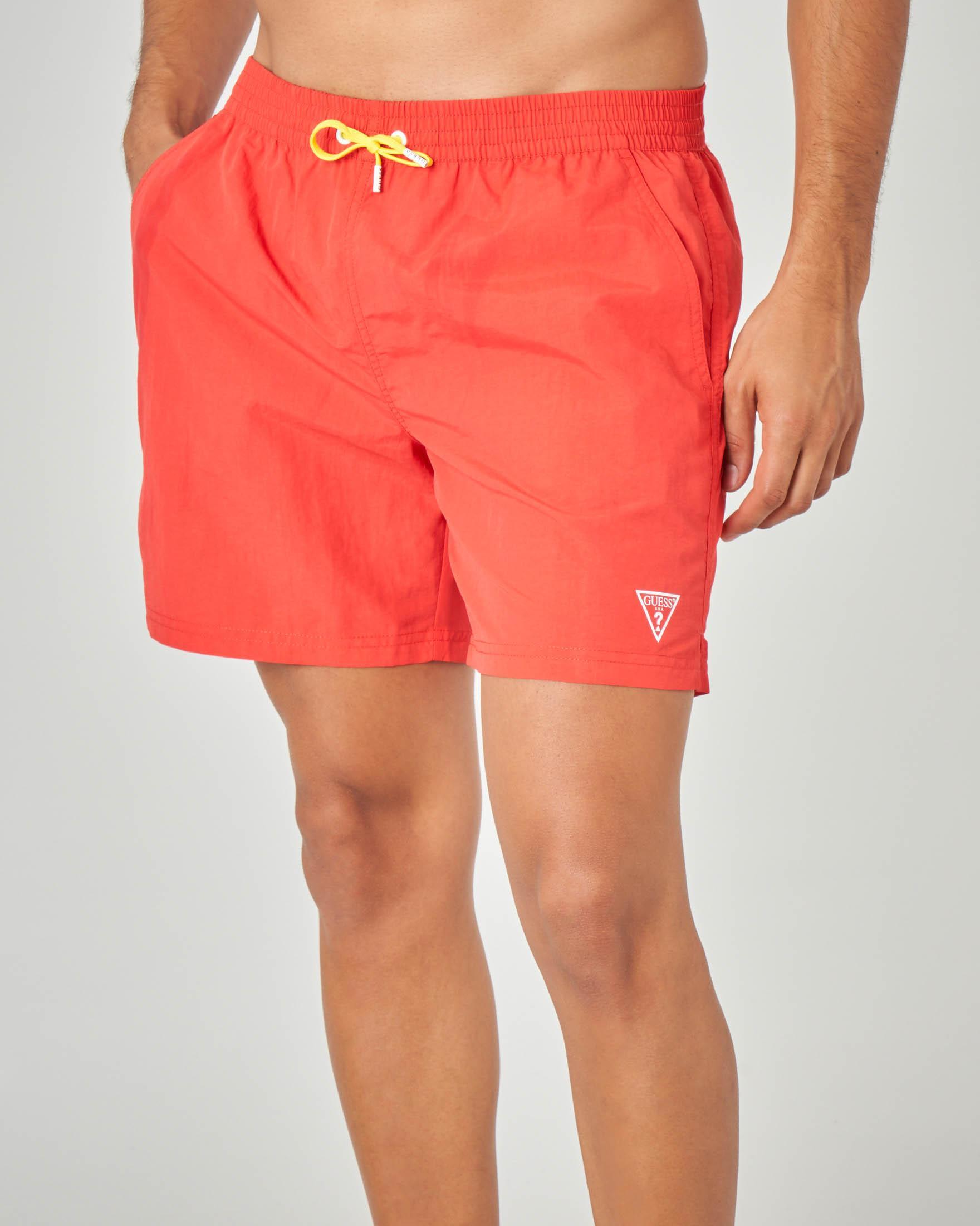Costume boxer rosso con taschino