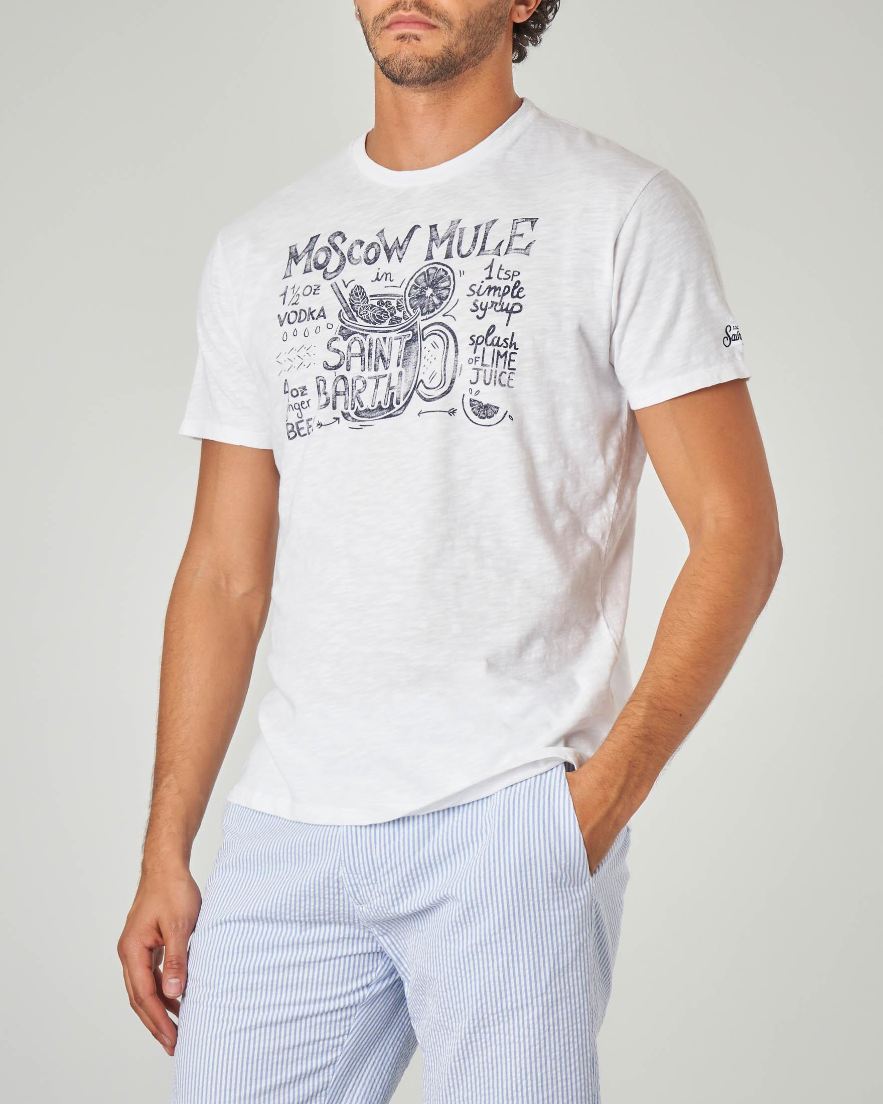T-shirt bianca con stampa Moscow Mule