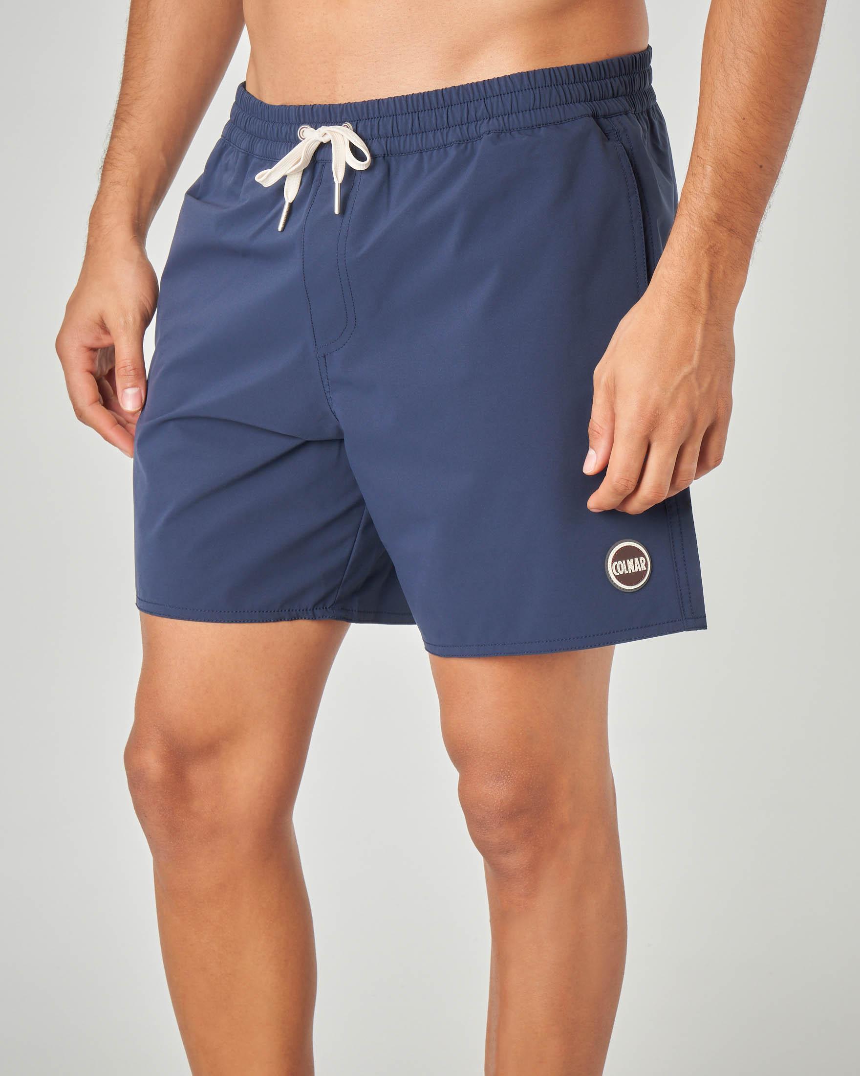 Costume boxer blu in tessuto stretch