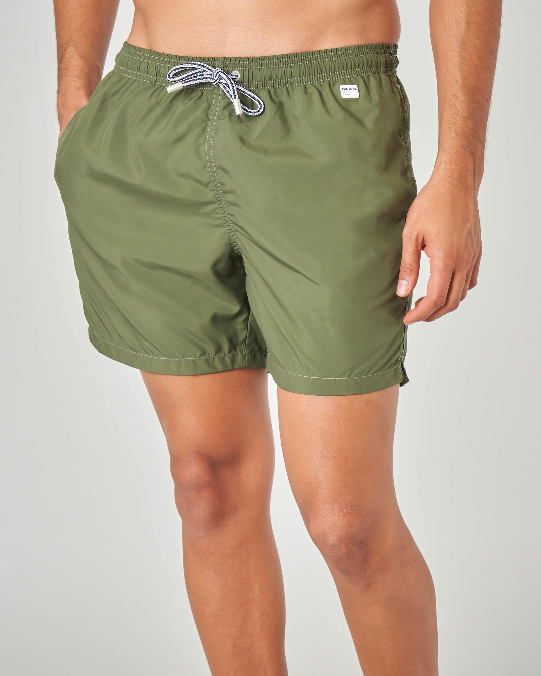 Boxer mare Pantone verde militare tinta unita